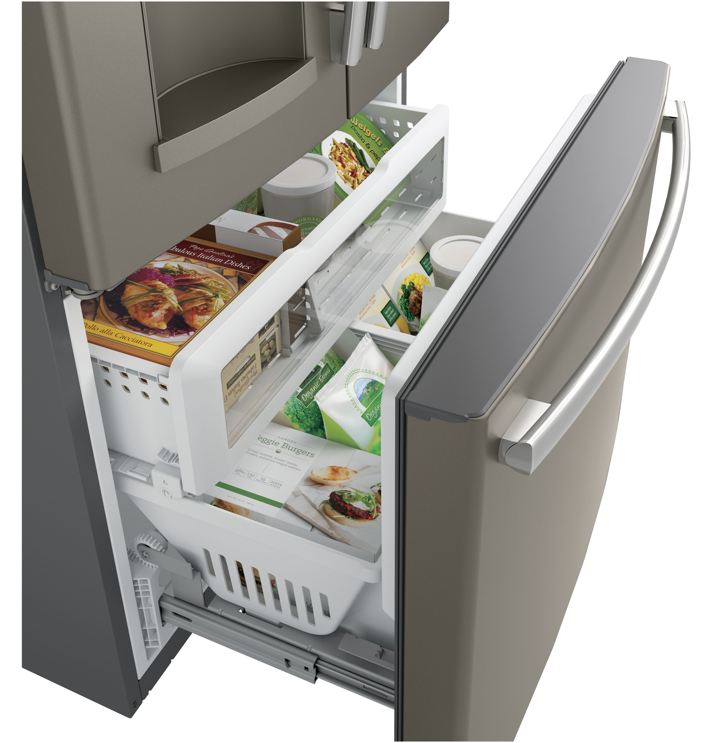 Model: GFE28HMKES | GE GE® ENERGY STAR® 27.8 Cu. Ft. French-Door Refrigerator