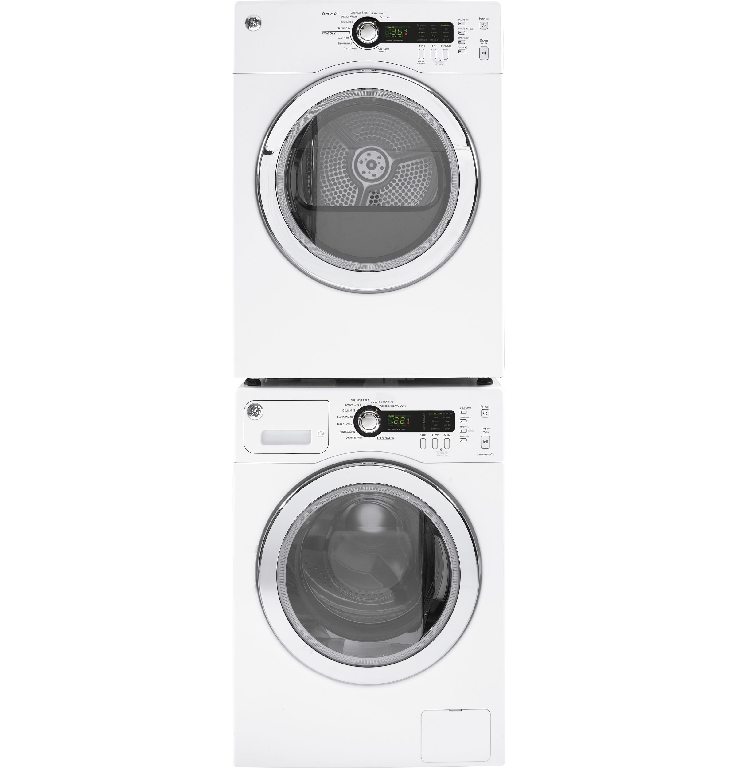 Model: DCVH480EKWW | GE GE®  4.0 cu.ft. Capacity Electric Dryer