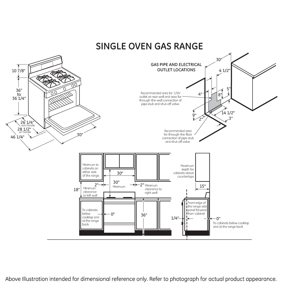 "Model: JGB450DEKWW | GE GE® 30"" Free-Standing Gas Range"