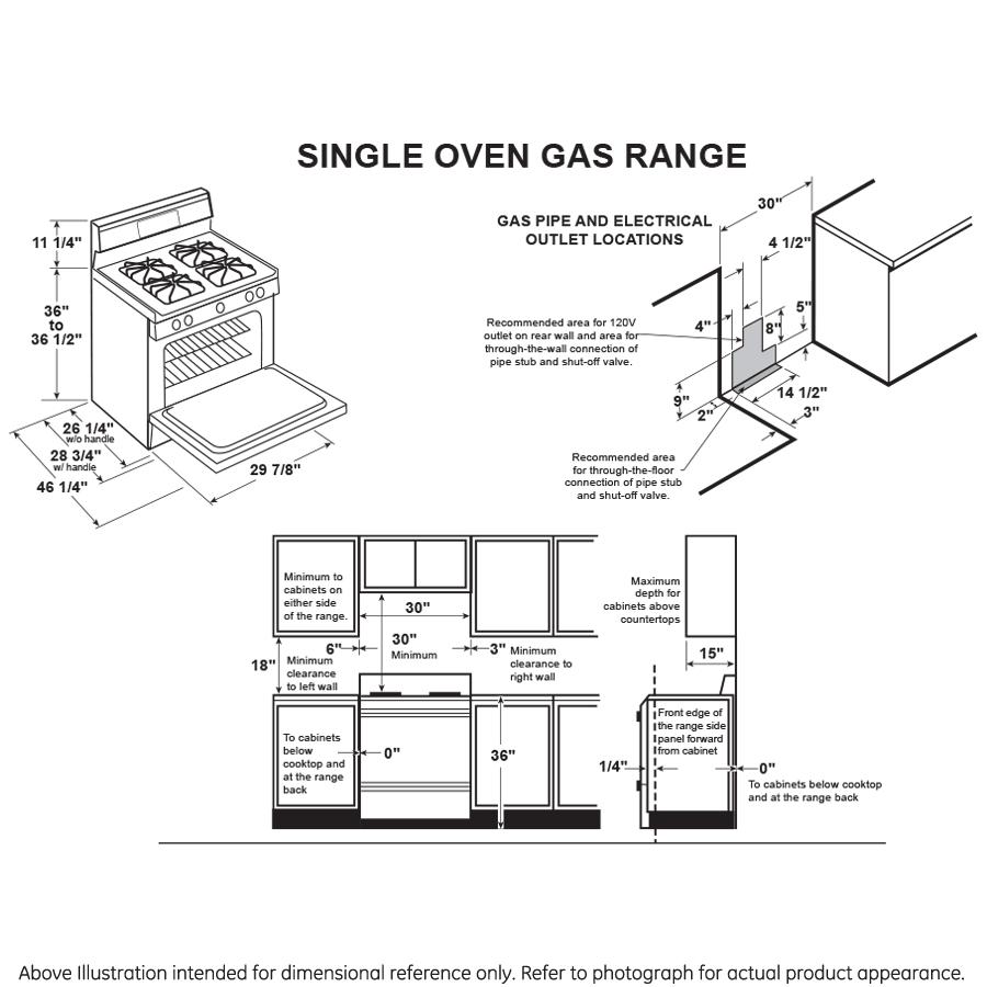 "Model: JGB660DEJWW   GE GE® 30"" Free-Standing Gas Range"