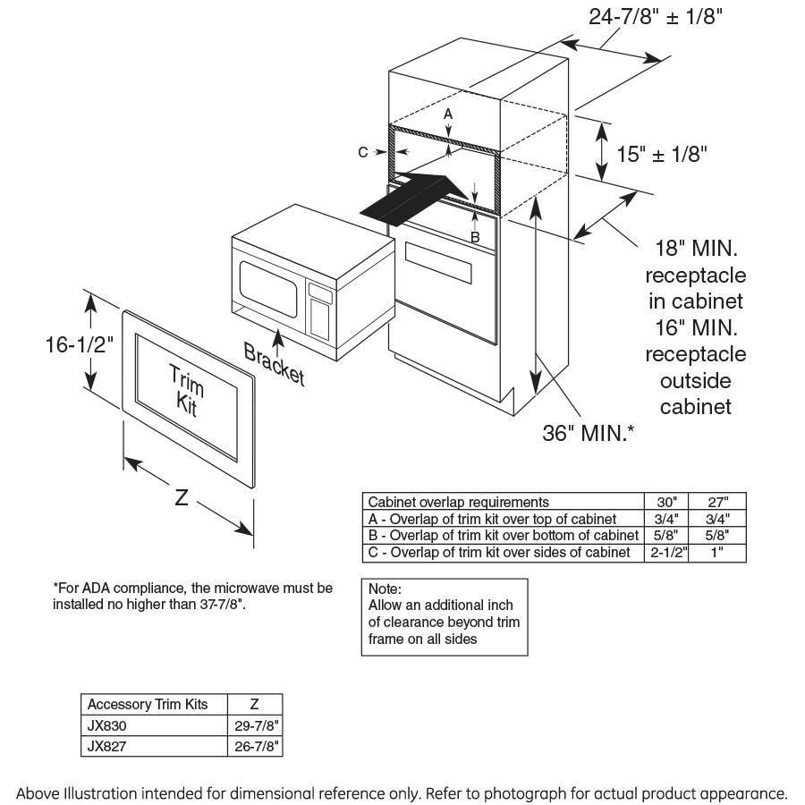 Model: PEM31DFWW   GE Profile™ Series 1.1 Cu. Ft. Countertop Microwave Oven