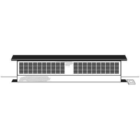 "Model: UVB36DKBB | GE Universal 36"" Telescopic Downdraft System"