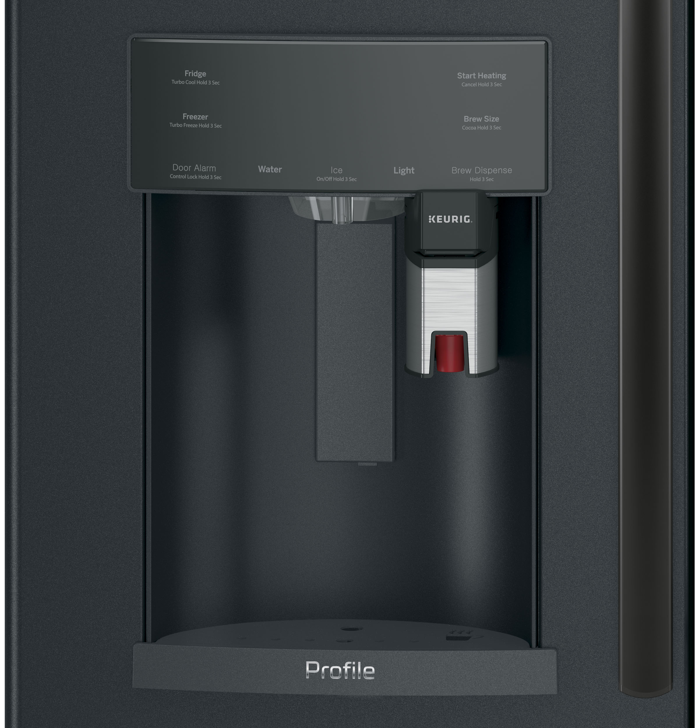 Model: PFE28PELDS   GE Profile™ Series ENERGY STAR® 27.8 Cu. Ft. French-Door Refrigerator with Keurig® K-Cup® Brewing System