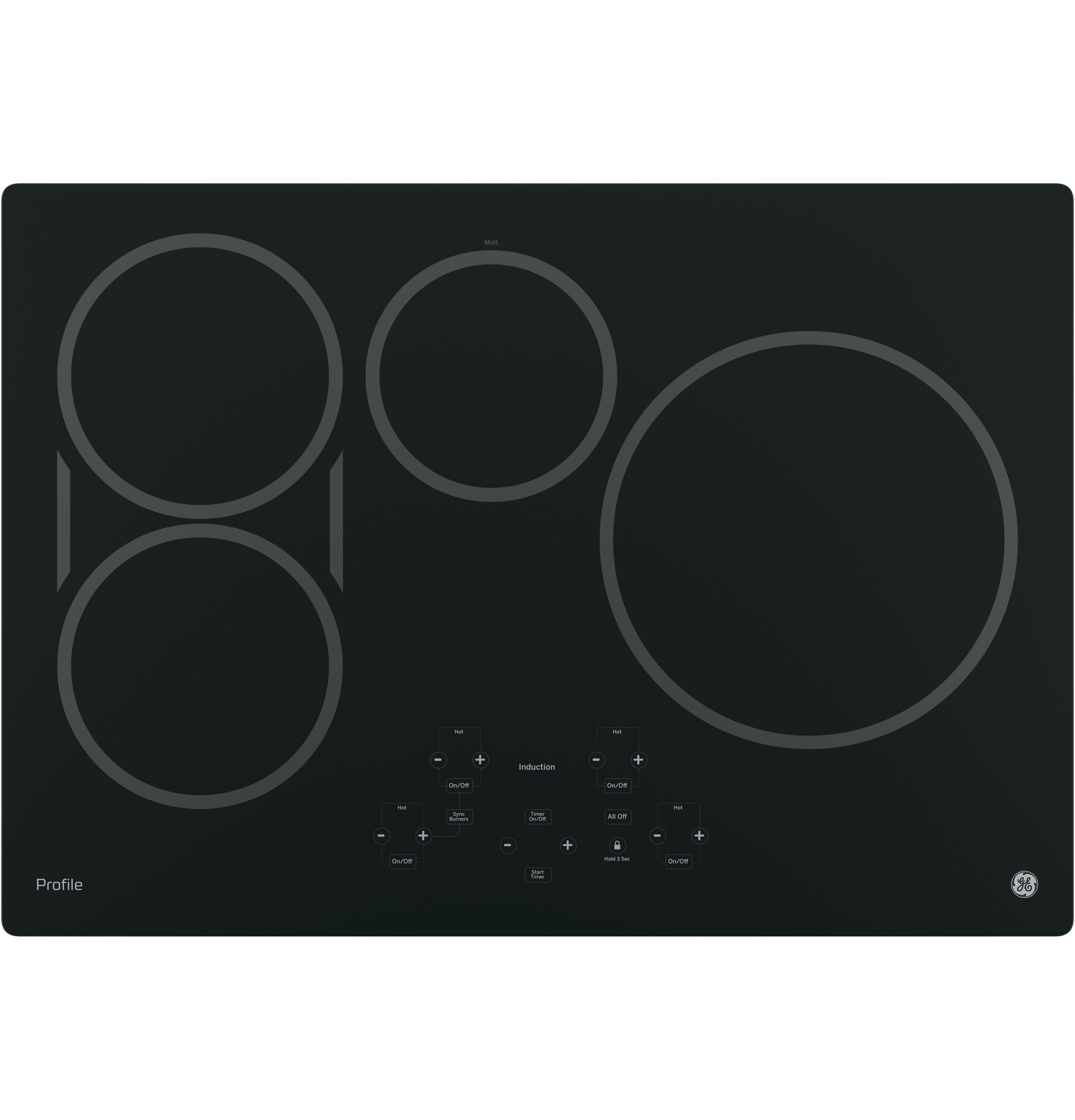 "Profile GE Profile™ 30"" Built-In Touch Control Induction Cooktop"