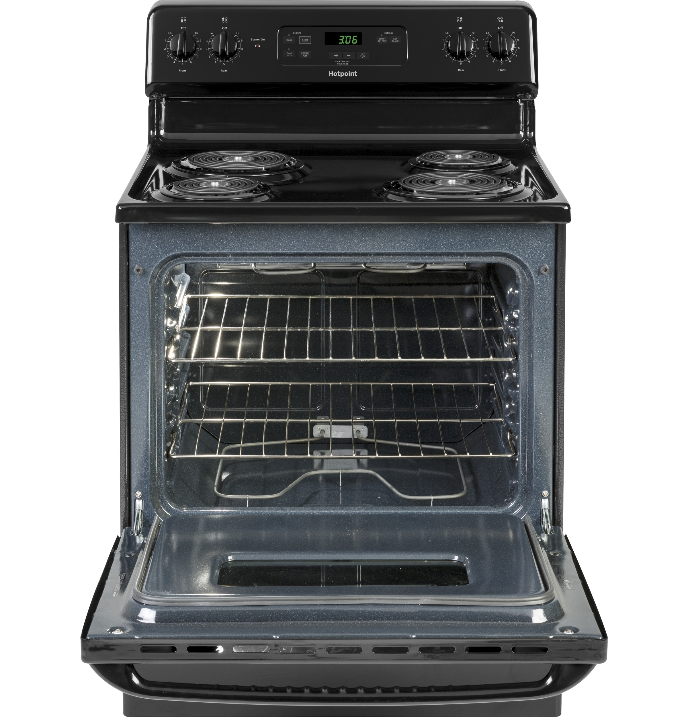 "Model: RBS360DMBB | Hotpoint Hotpoint® 30"" Free-Standing Standard Clean Electric Range"