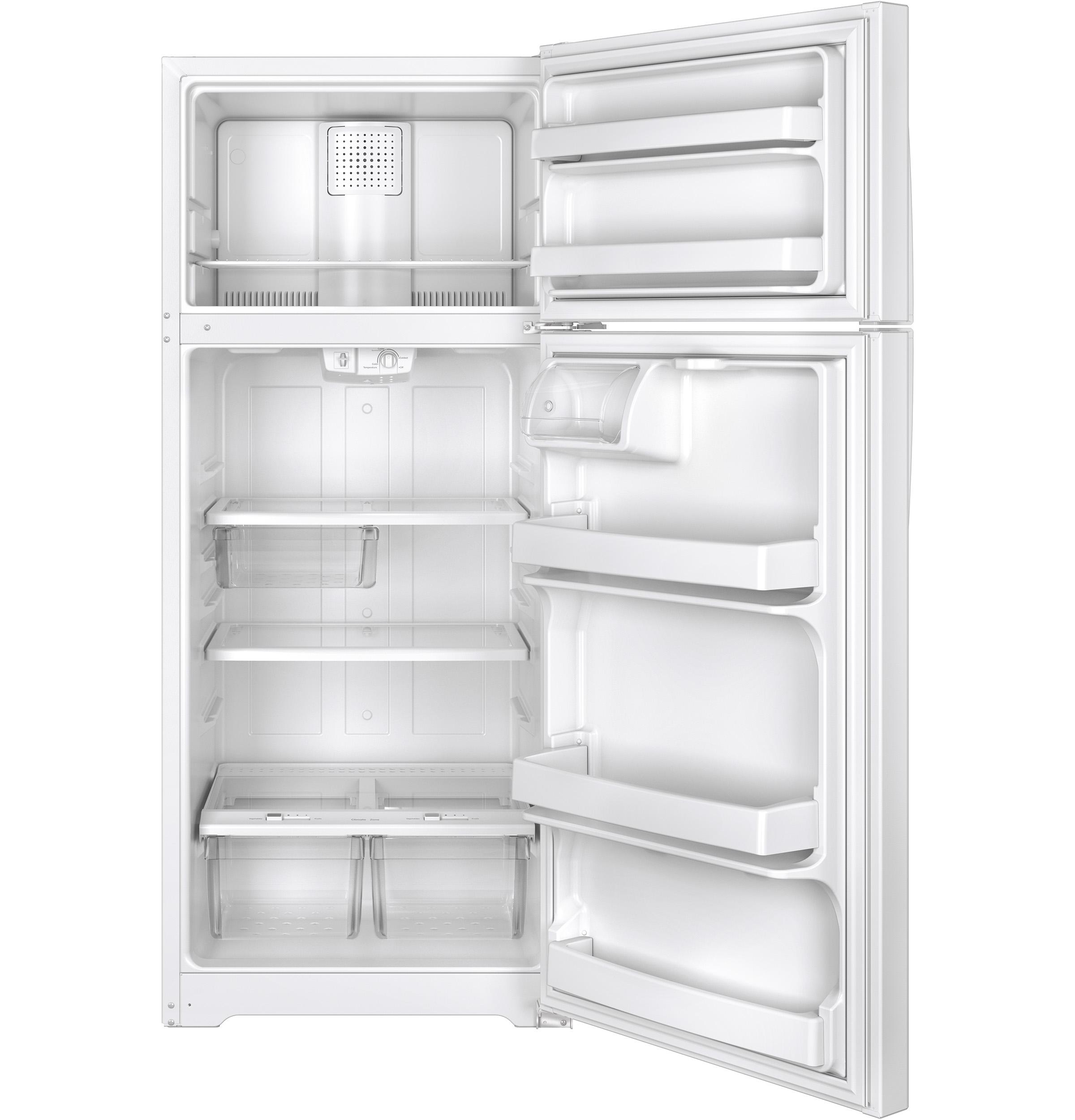 Model: GTS18GTHWW | GE GE® 17.5 Cu. Ft. Top-Freezer Refrigerator