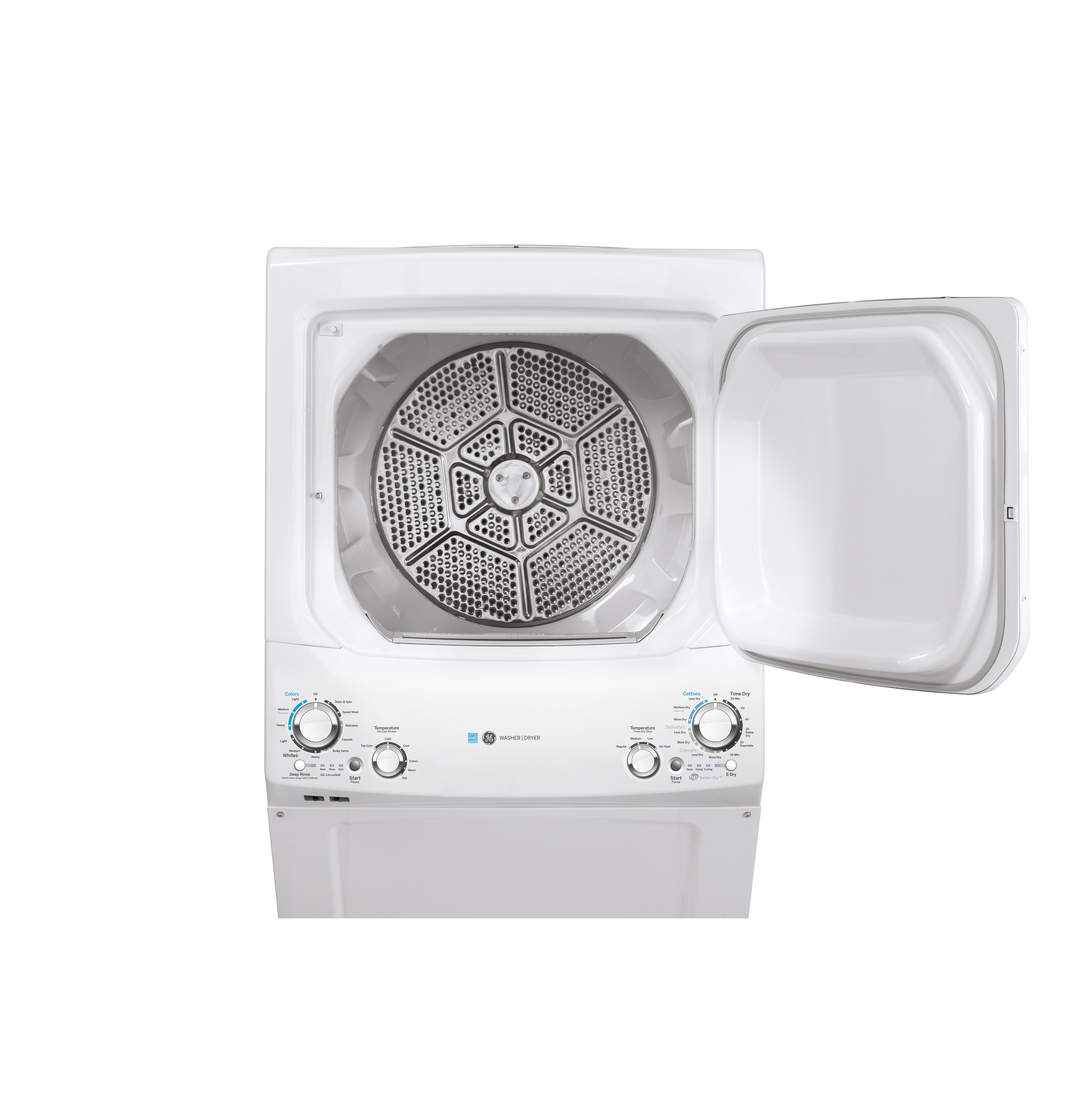 Model: GUD27EESNWW | GE GE Unitized Spacemaker® 3.9 cu. ft. Capacity Washer with Stainless Steel Basket and 5.9 cu. ft. Capacity Electric Dryer