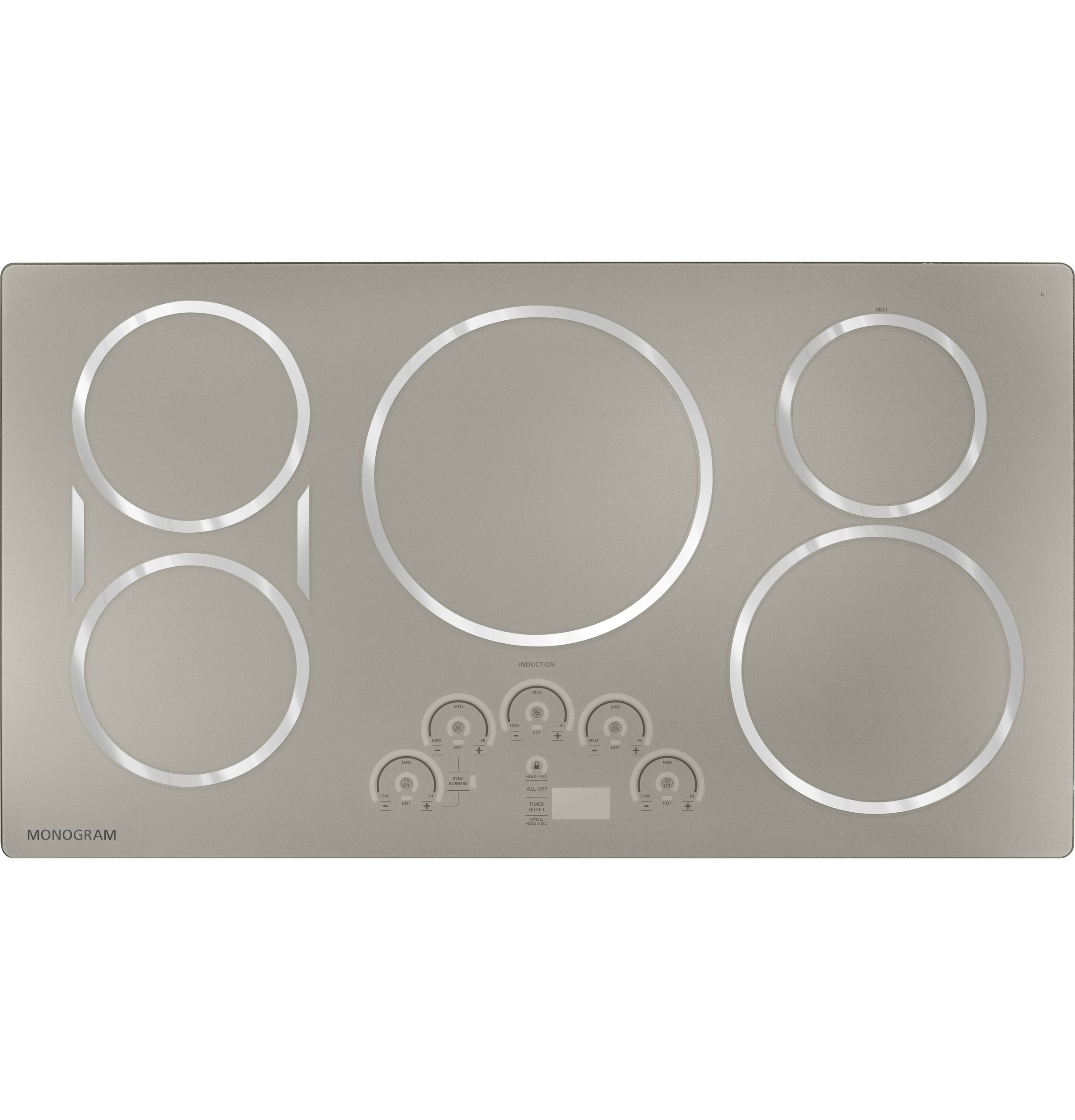 "Model: ZHU36RSJSS | Monogram Monogram 36"" Induction Cooktop"