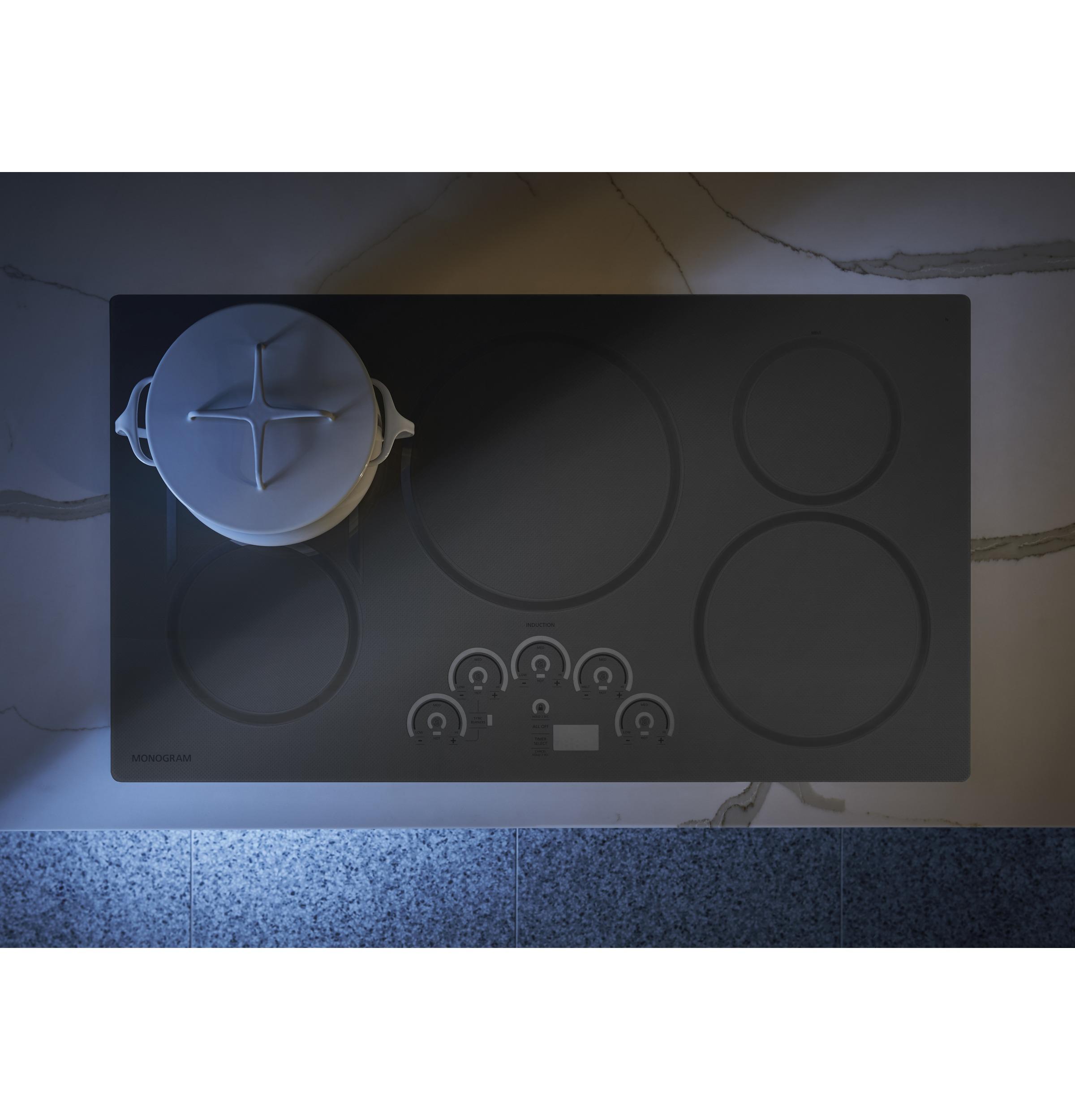 "Model: ZHU36RSJSS | Monogram Monogram 36"" Induction Cooktop"