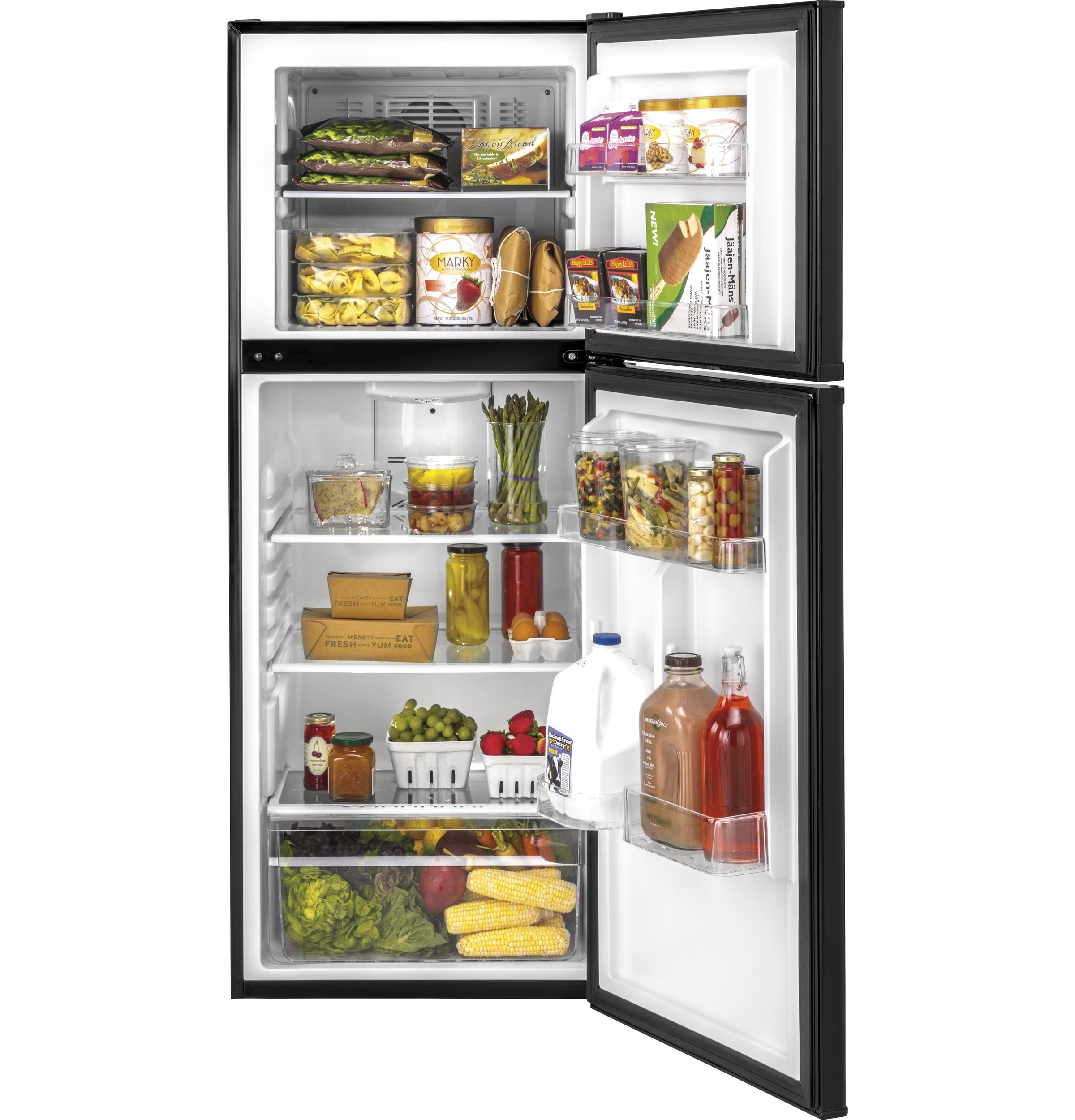Model: HA10TG21SB | Haier 9.8 Cu. Ft. Top Freezer Refrigerator