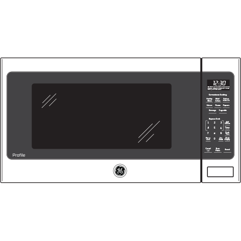 Model: PES7227BLTS | GE Profile™ Series 2.2 Cu. Ft. Countertop Sensor Microwave Oven