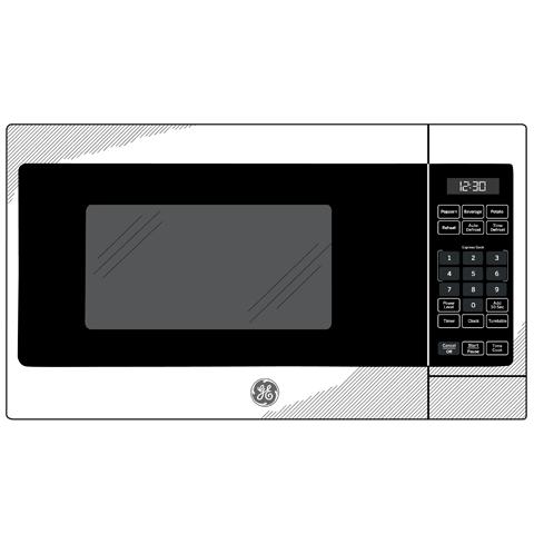Model: JEM3072SHSS | GE GE® 0.7 Cu. Ft. Capacity Countertop Microwave Oven