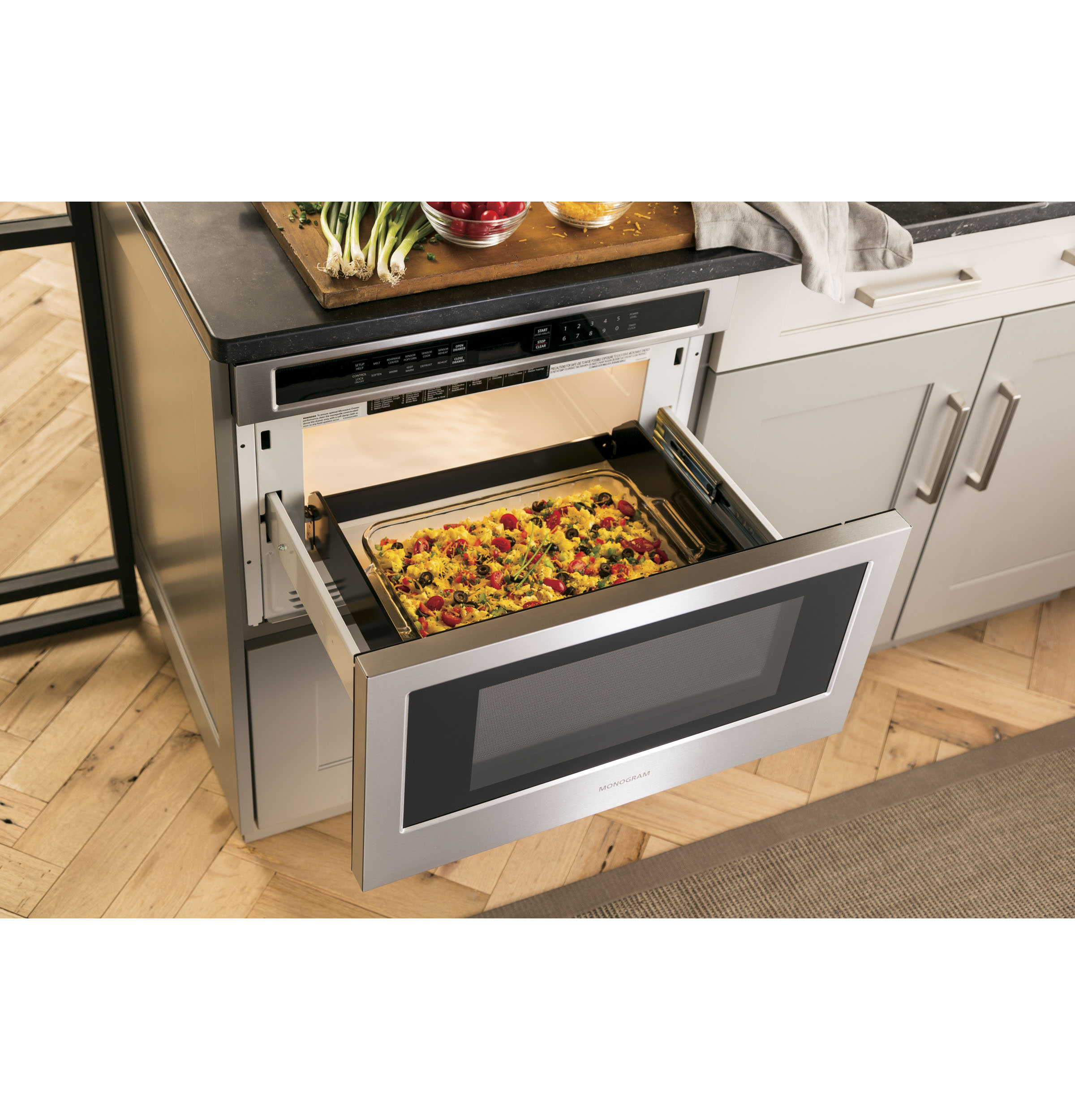 Model: ZWL1126SJSS | Monogram Monogram 1.2 Cu. Ft. Drawer Microwave
