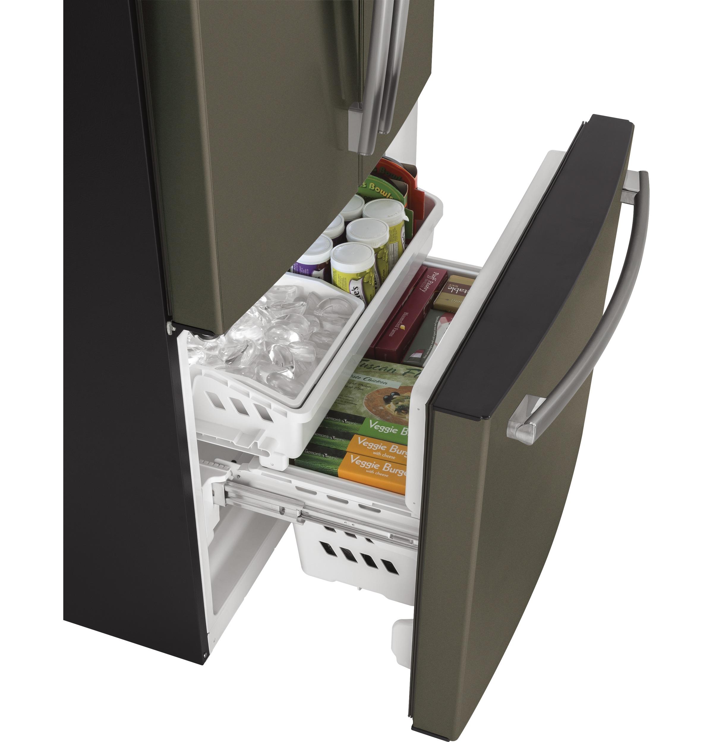 Model: GWE19JMLES | GE® ENERGY STAR® 18.6 Cu. Ft. Counter-Depth French-Door Refrigerator
