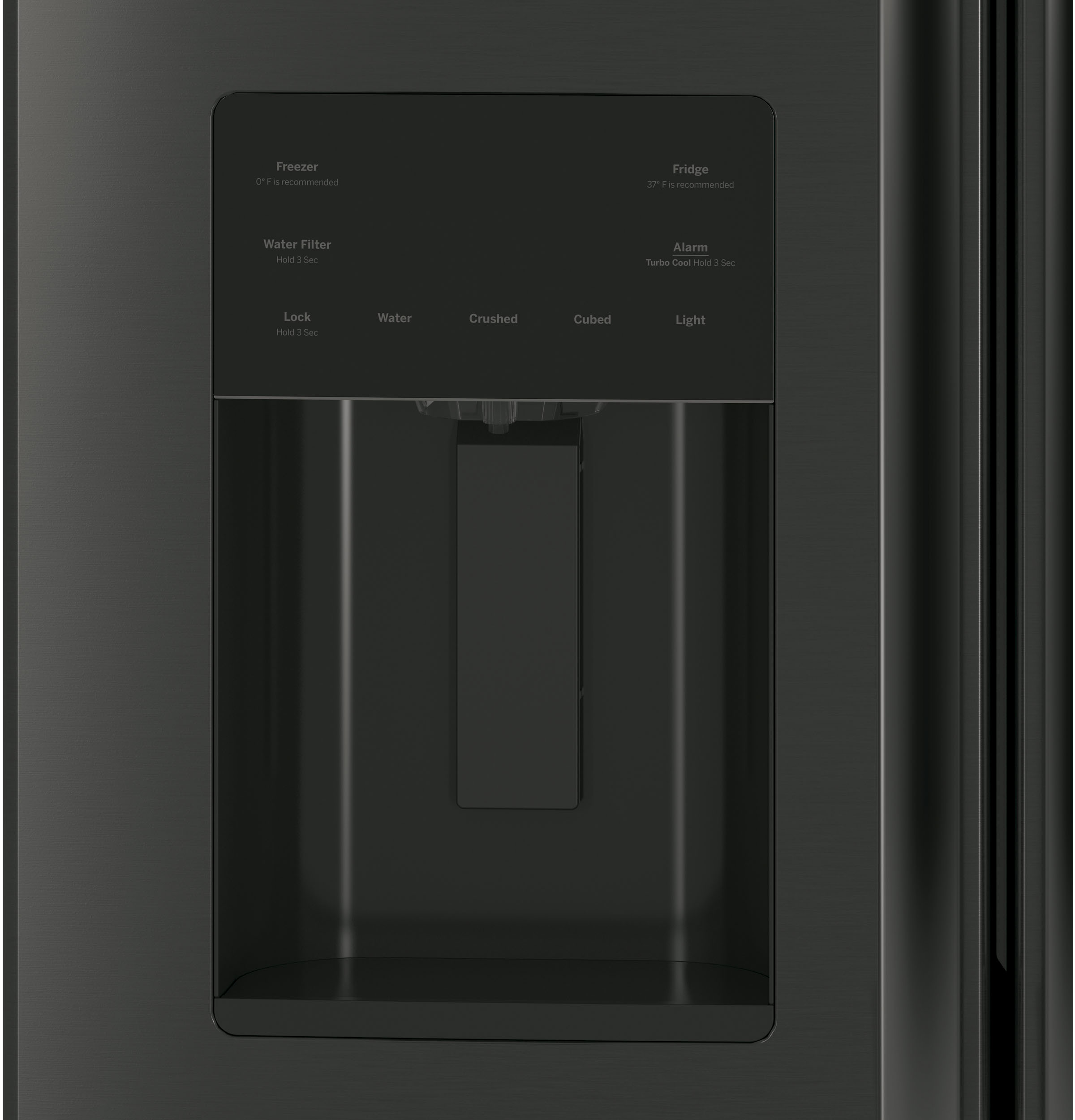 Model: GFE24JBLTS | GE® ENERGY STAR® 23.7 Cu. Ft. French-Door Refrigerator
