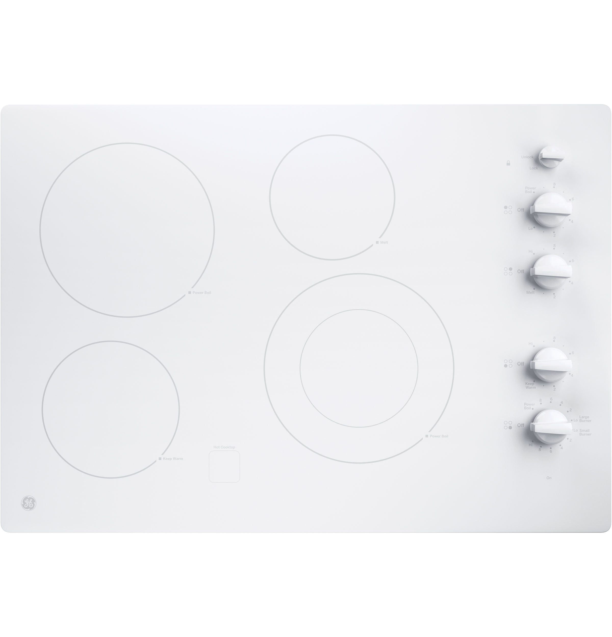 "GE GE® 30"" Built-In Knob Control Electric Cooktop"