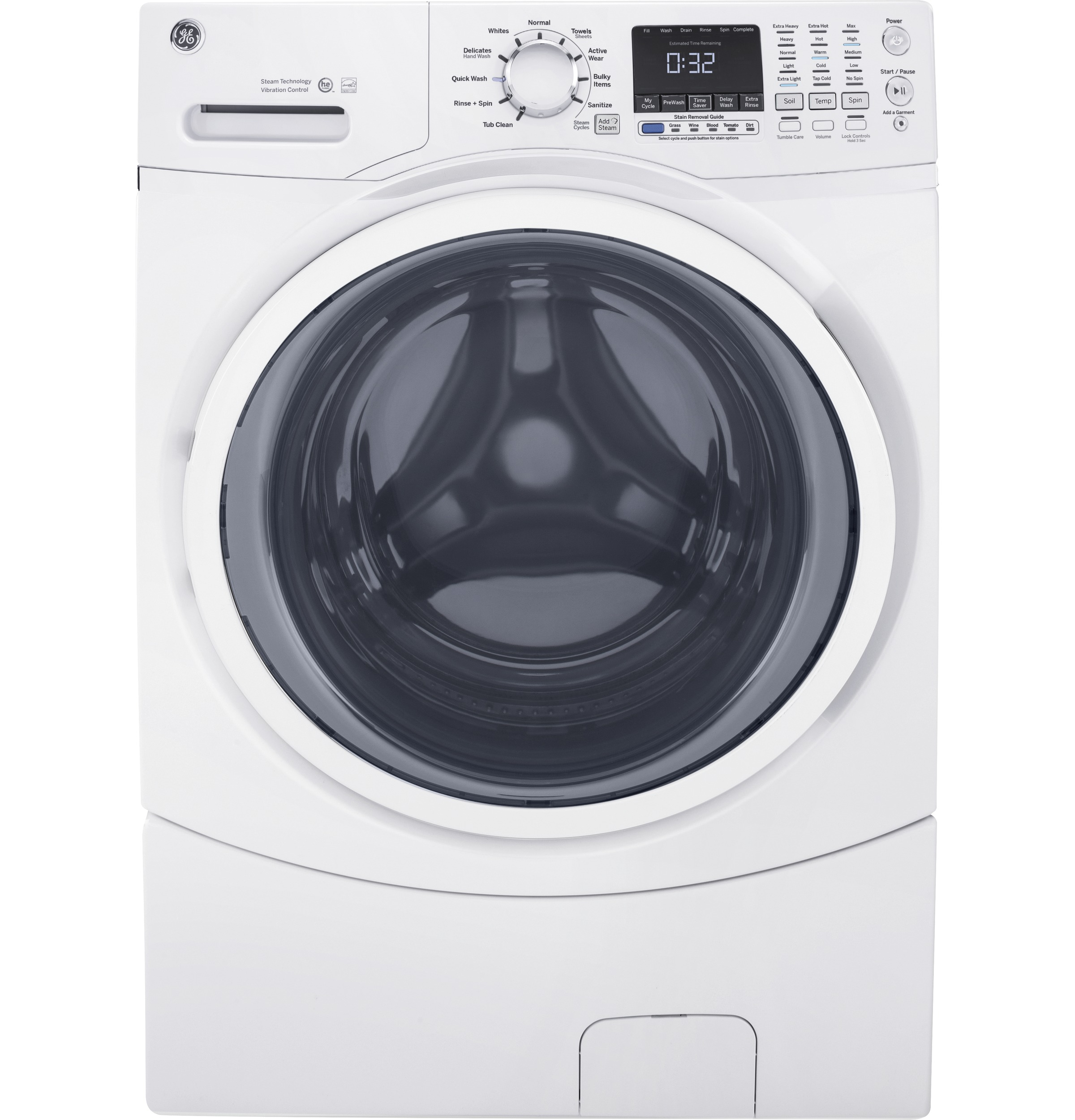 GE GE® 4.5 cu. ft. Capacity Front Load ENERGY STAR® Washer with Steam