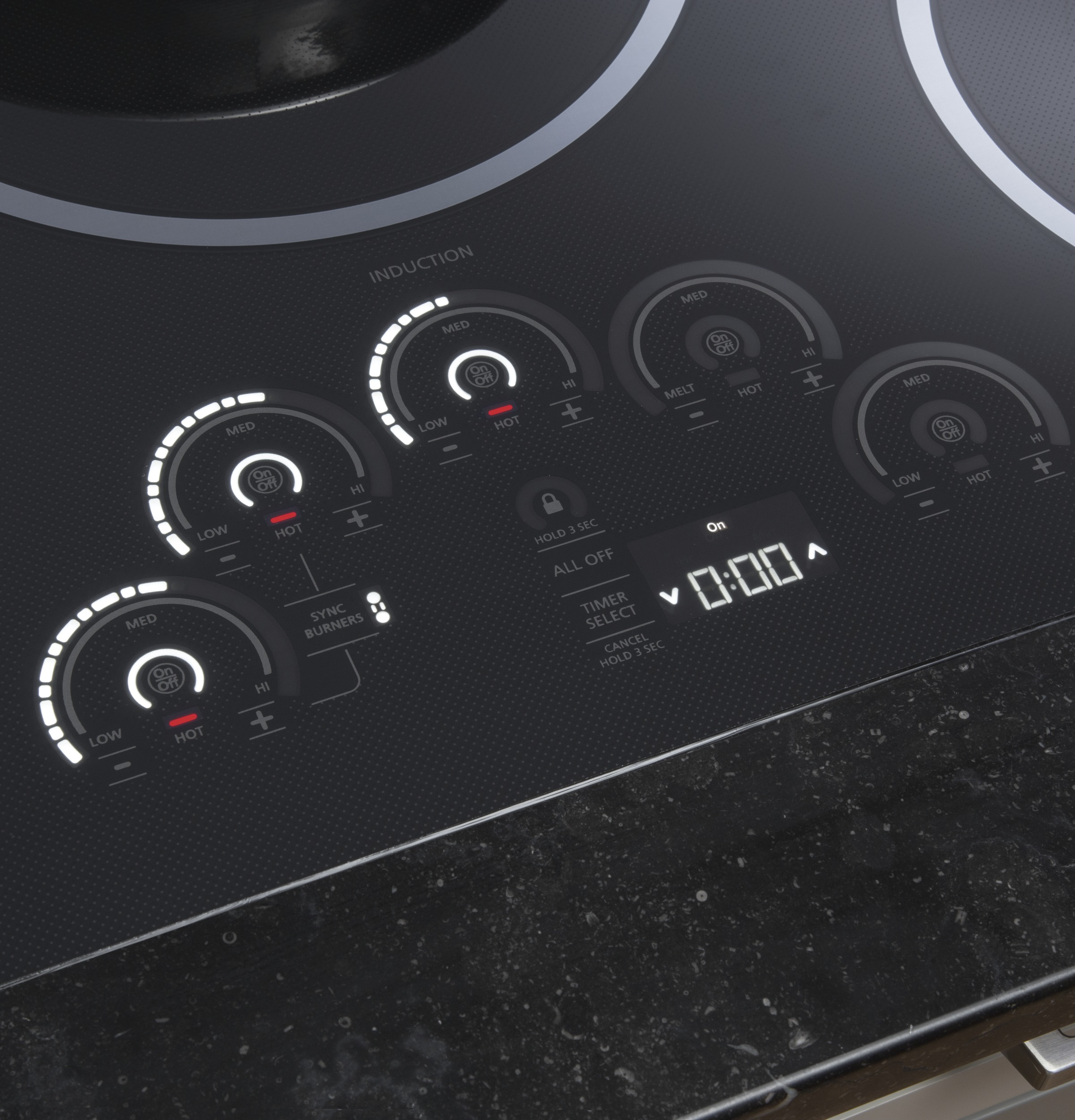 "Model: ZHU36RDJBB | Monogram Monogram 36"" Induction Cooktop"