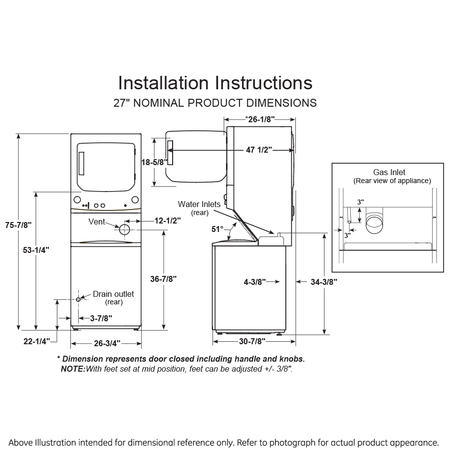 ge gas dryer diagram ge gud27gspmdg ge unitized spacemaker   3 8 cu ft capacity  ge unitized spacemaker