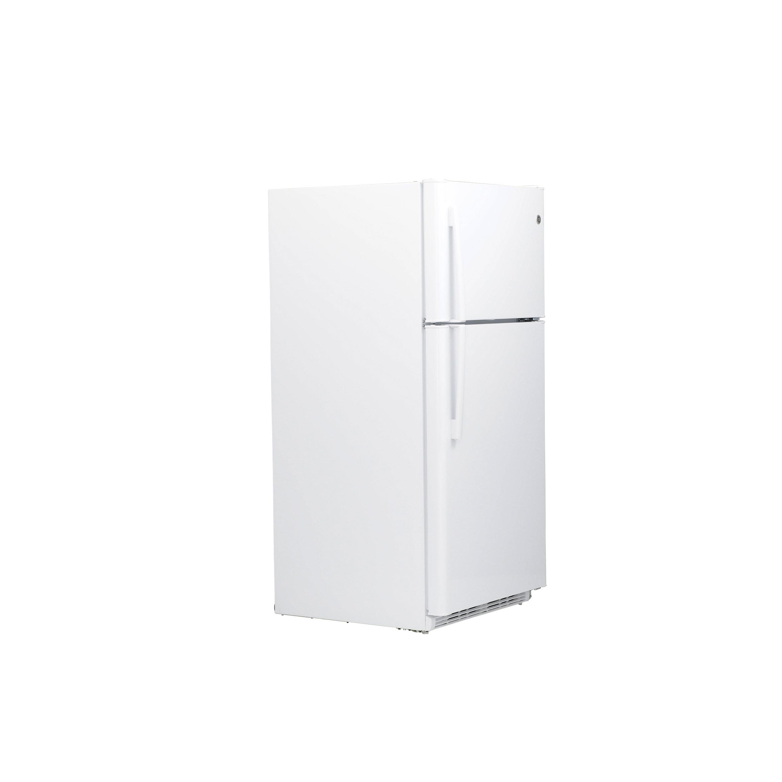 Model: GTS21FGKWW | GE GE® 20.8 Cu. Ft. Top-Freezer Refrigerator