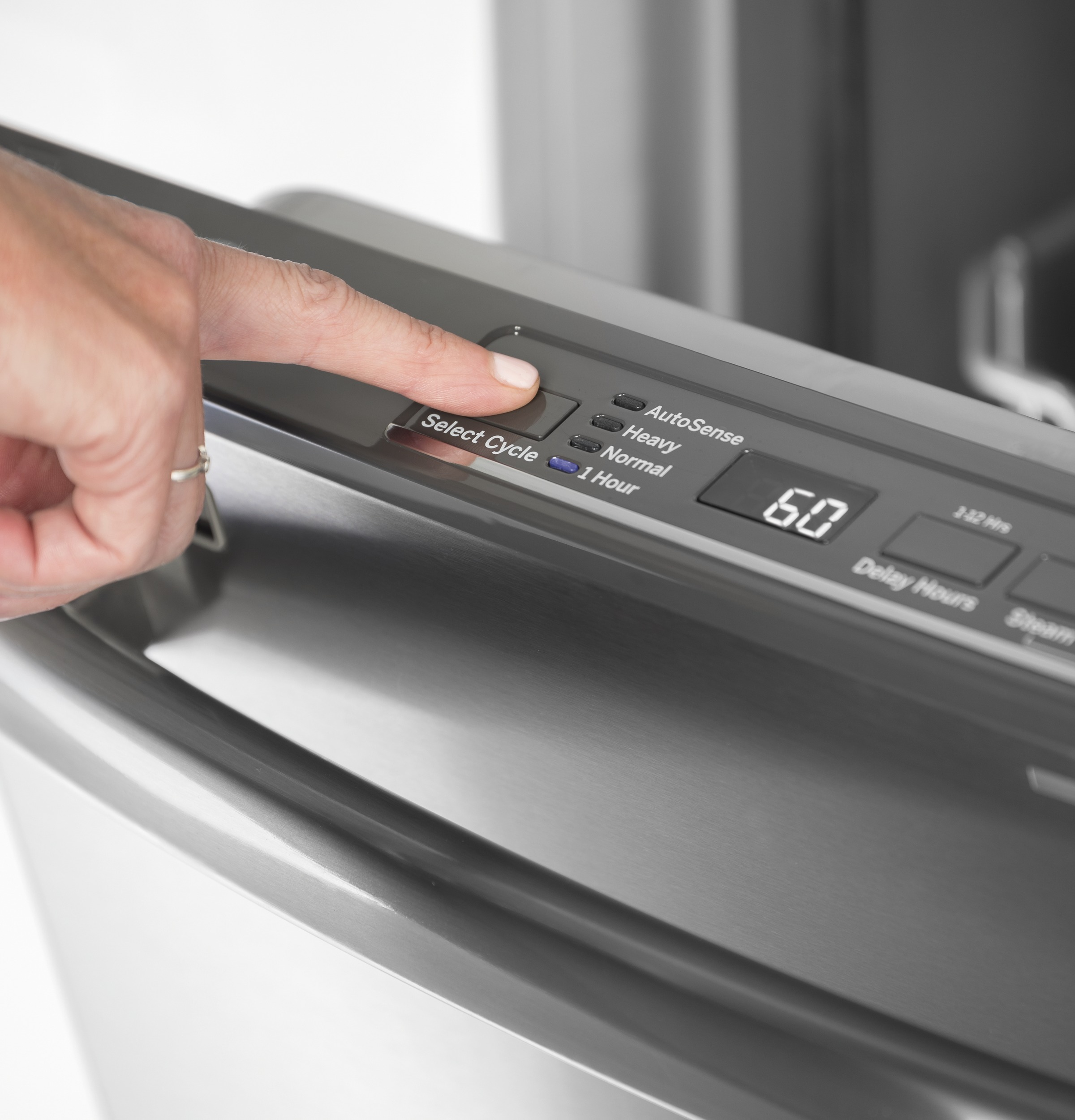 Model: GDT535PSMSS | GE GE® Dishwasher with Hidden Controls