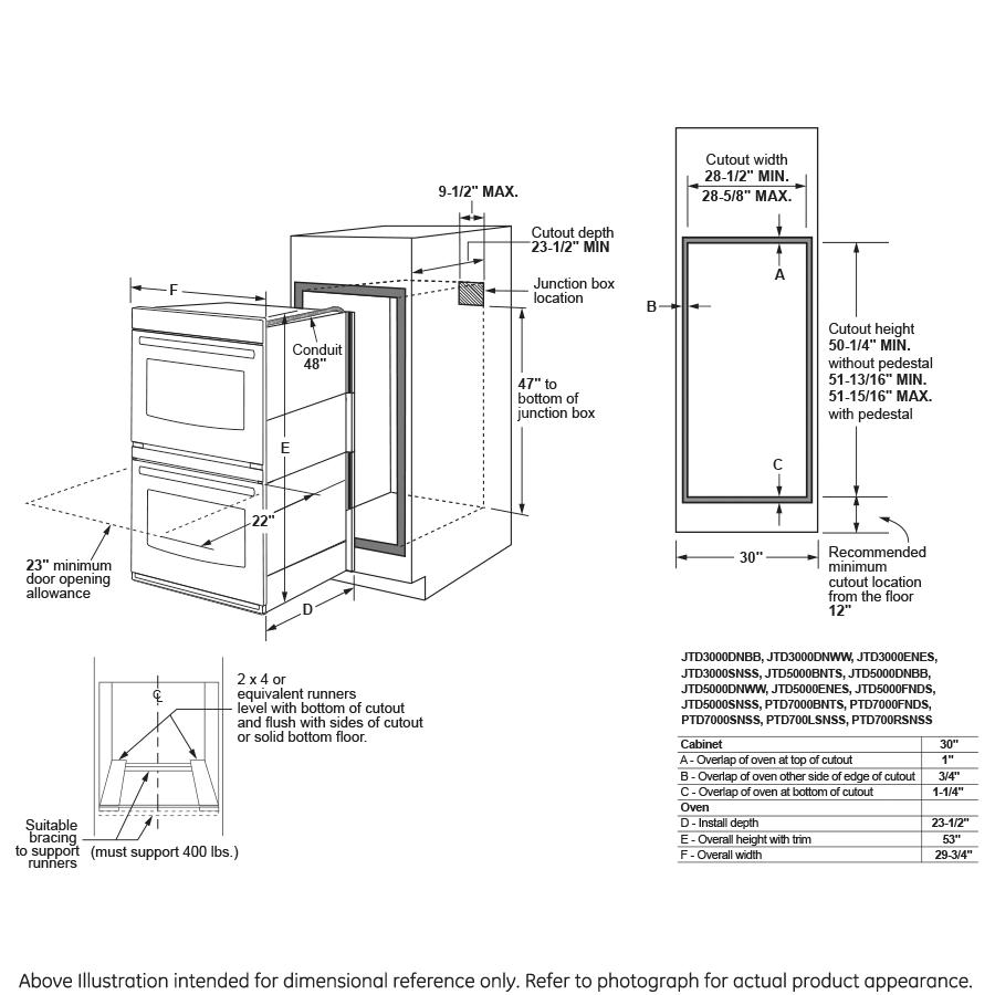 Model: JTD5000BNTS | GE® 30
