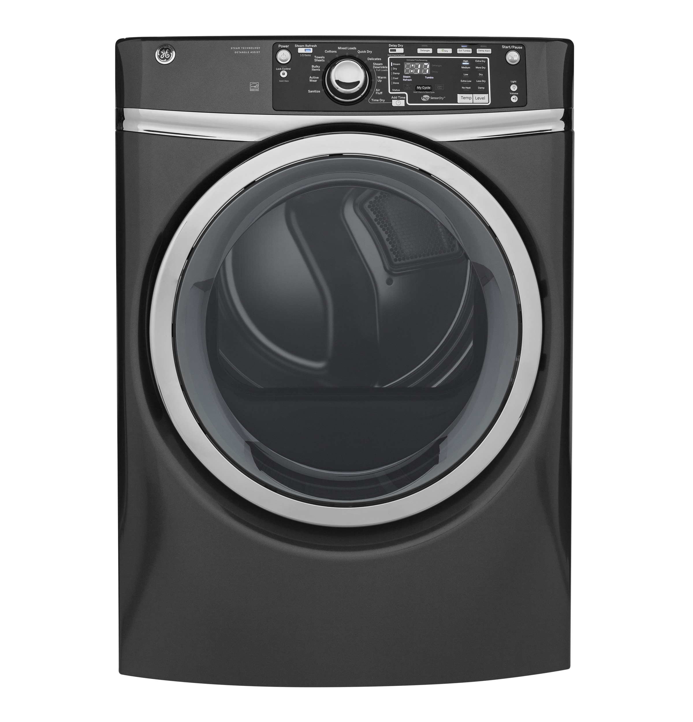 GE GE® 8.3 cu. ft. Capacity Front Load Gas ENERGY STAR® Dryer with Steam