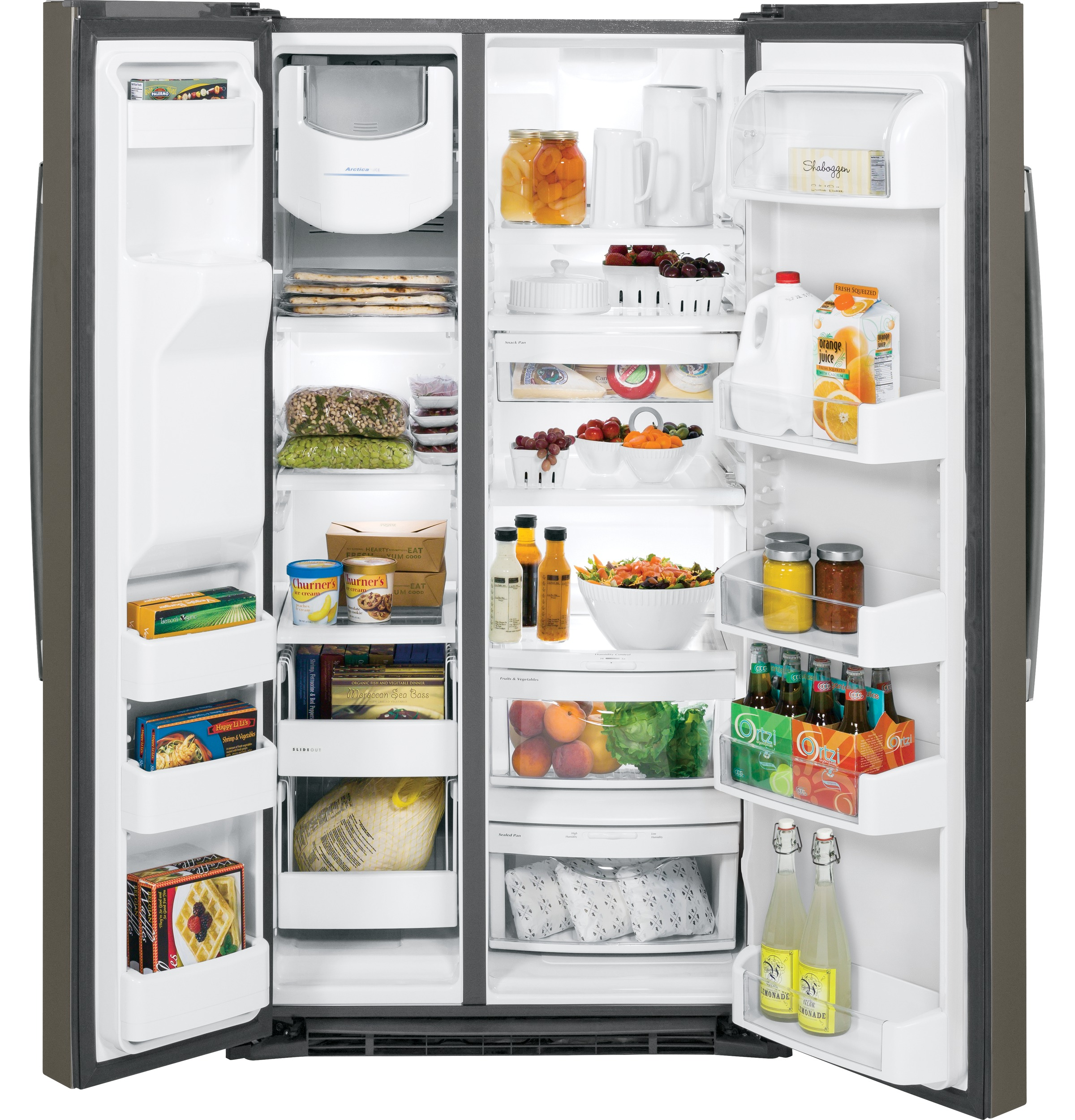 Model: GSE25HMHES | GE® ENERGY STAR® 25.3 Cu. Ft. Side-By-Side Refrigerator