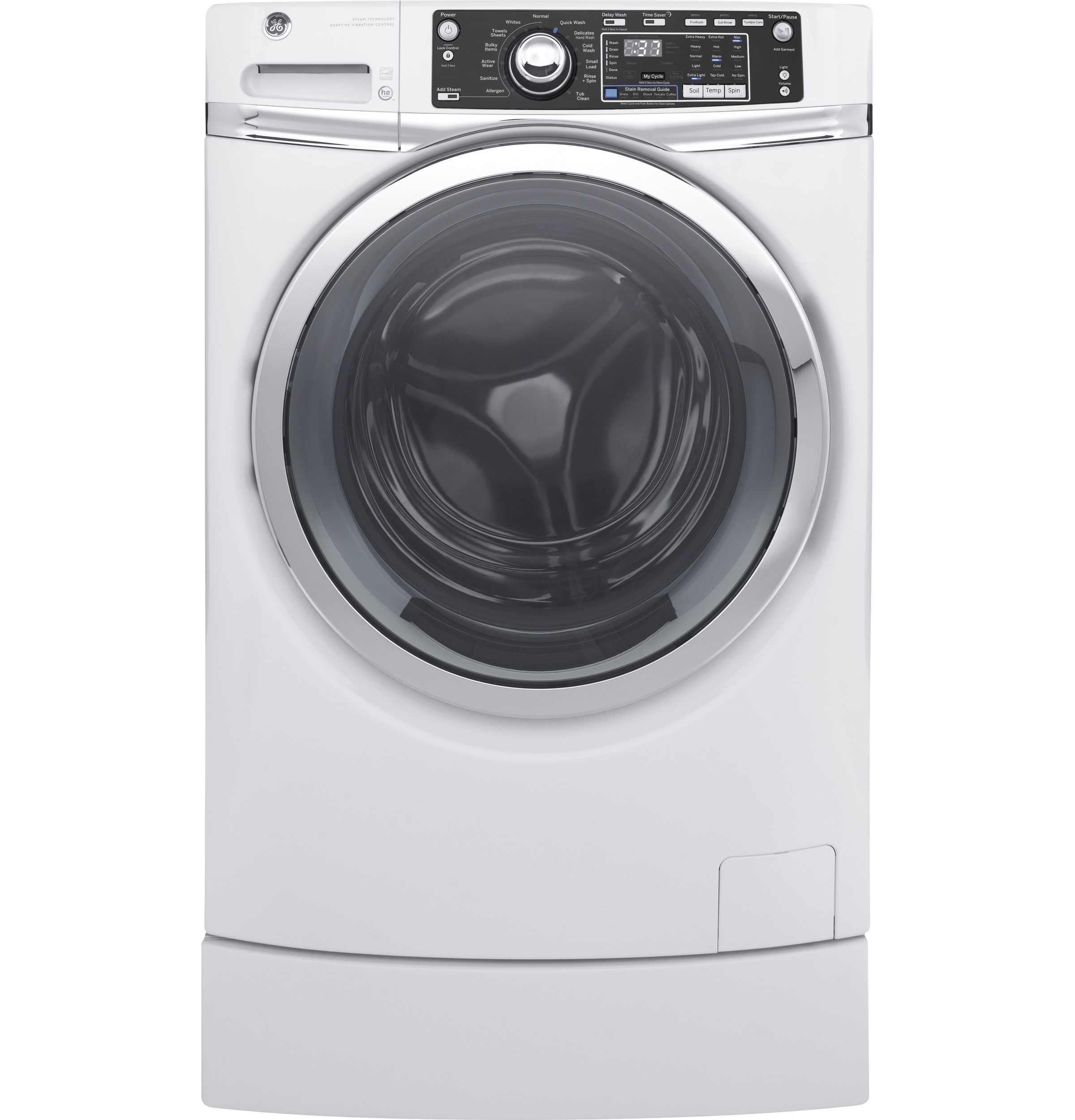 GE GE® 4.9 DOE cu. ft. Capacity RightHeight™ Front Load ENERGY STAR® Washer with Steam