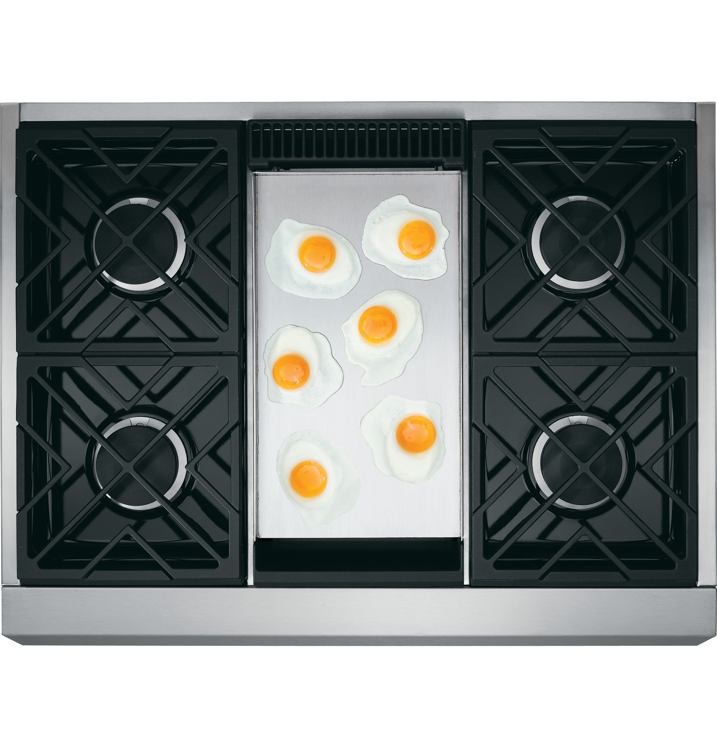 "Model: ZDP364NDPSS | Monogram Monogram 36"" Dual-Fuel Professional Range with 4 Burners and Griddle (Natural Gas)"