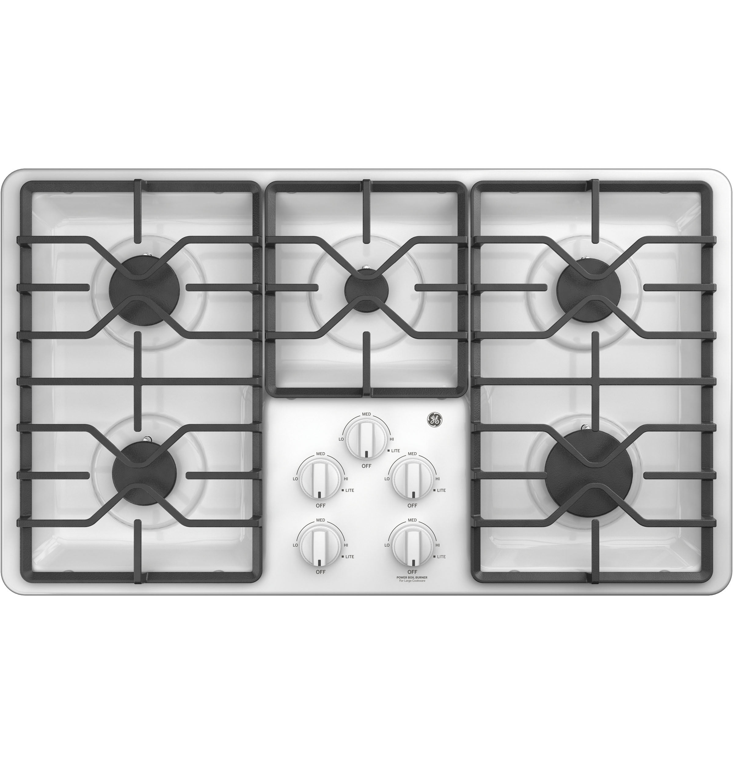 "GE GE® 36"" Built-In Gas Cooktop with Dishwasher-Safe Grates"
