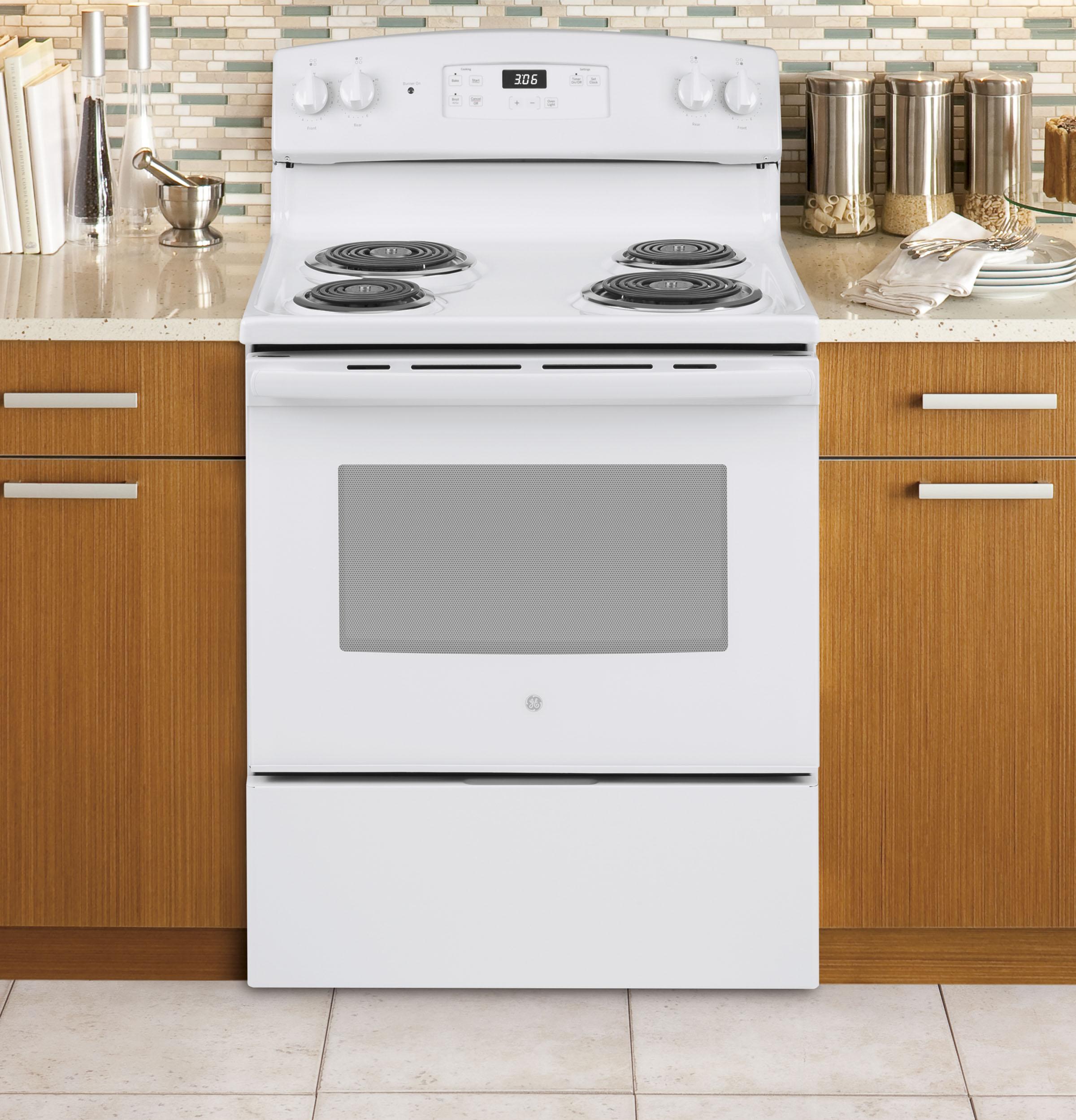 "Model: JBS360DMWW | GE GE® 30"" Free-Standing Electric Range"