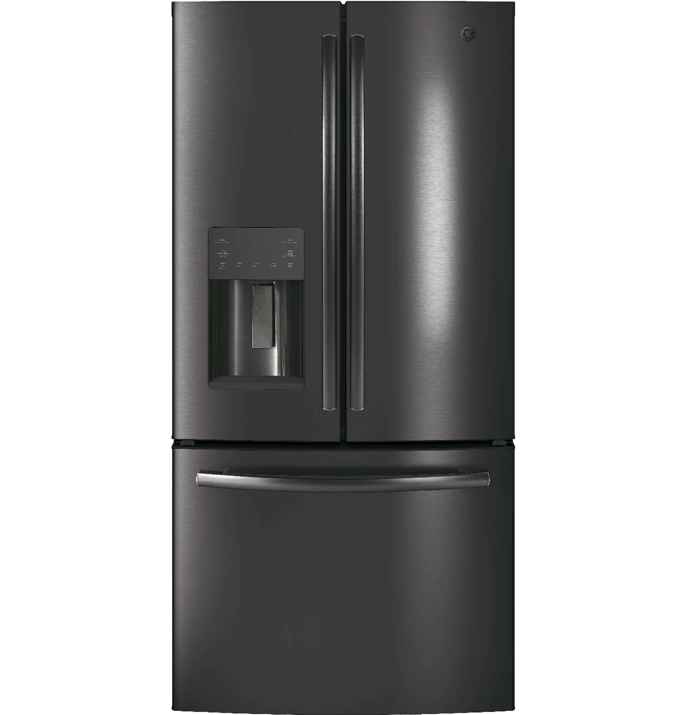Model: GYE18JBLTS | GE GE® ENERGY STAR® 17.5 Cu. Ft. Counter-Depth French-Door Refrigerator