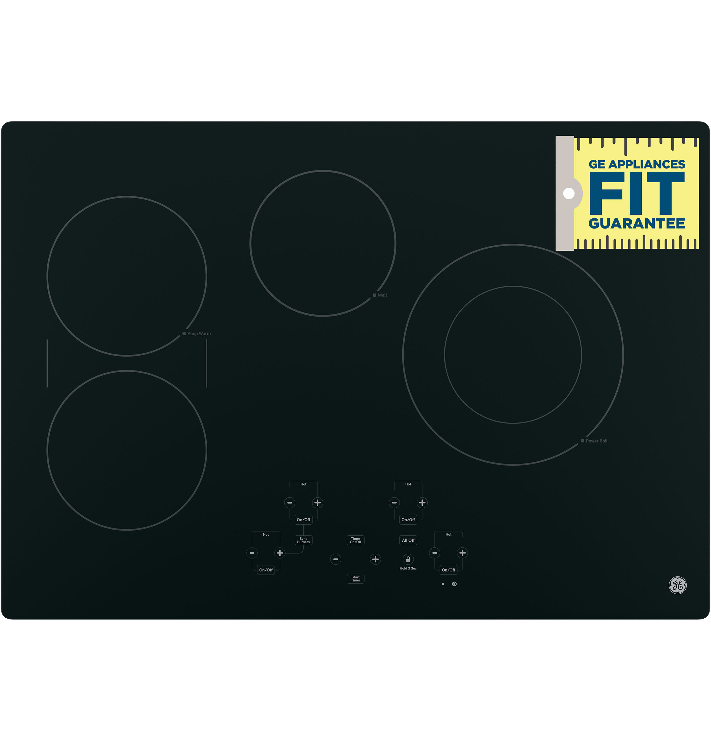 "Model: JP5030DJBB | GE GE® 30"" Built-In Touch Control Electric Cooktop"