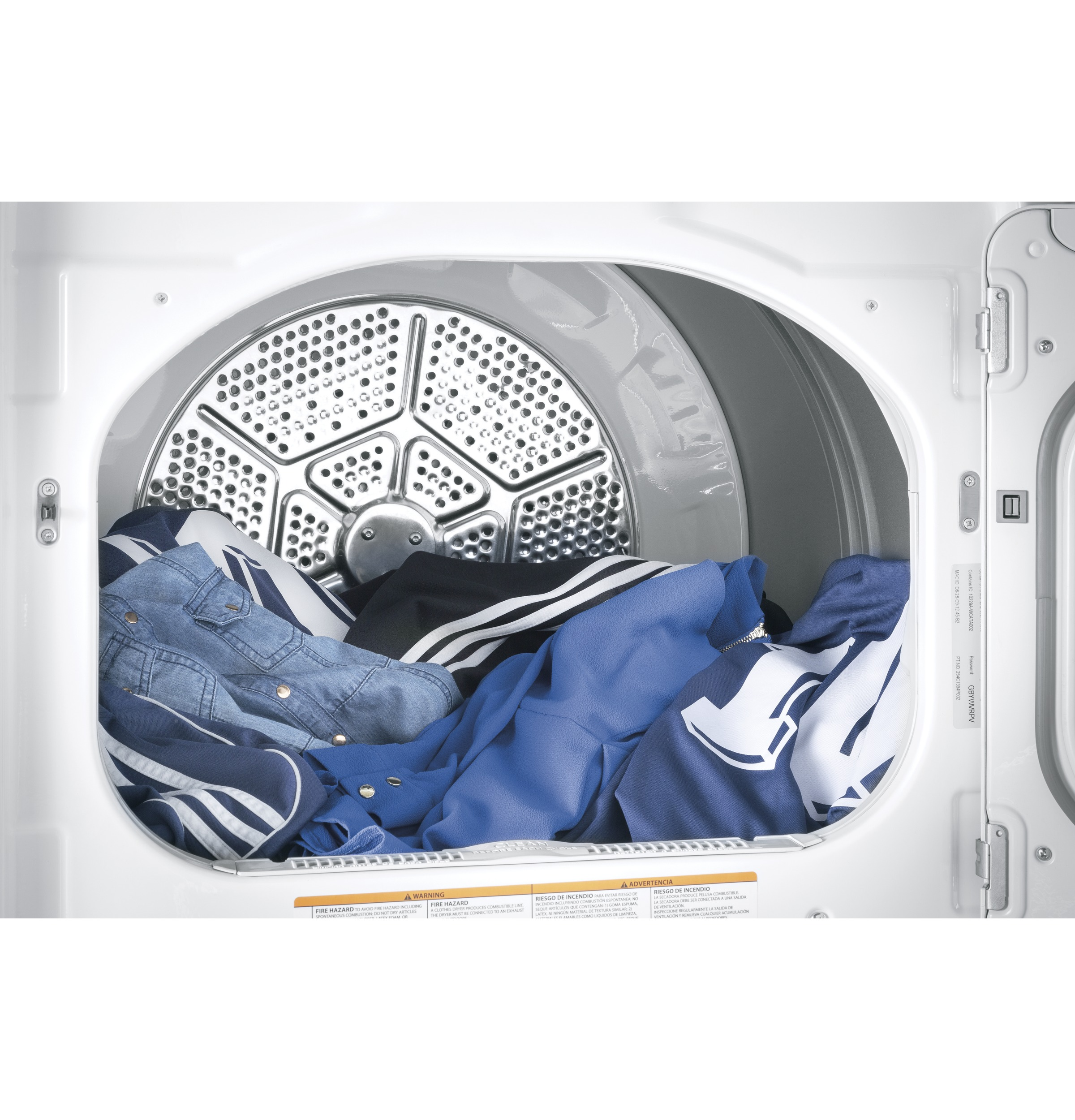 Model: GTD75GCSLWS | GE® 7.4 cu. ft. Capacity aluminized alloy drum Gas Dryer with HE Sensor Dry