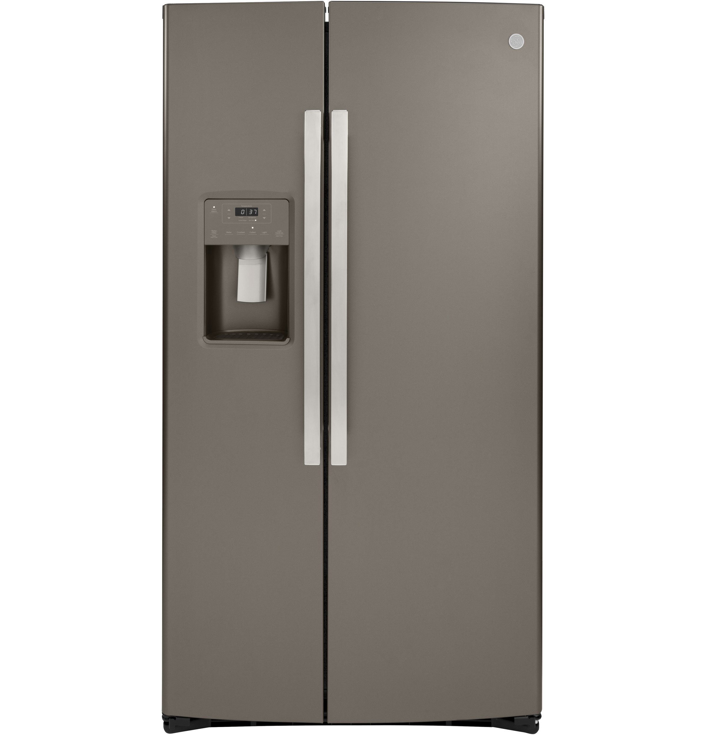 Model: GZS22IMNES | GE® 21.8 Cu. Ft. Counter-Depth Side-By-Side Refrigerator