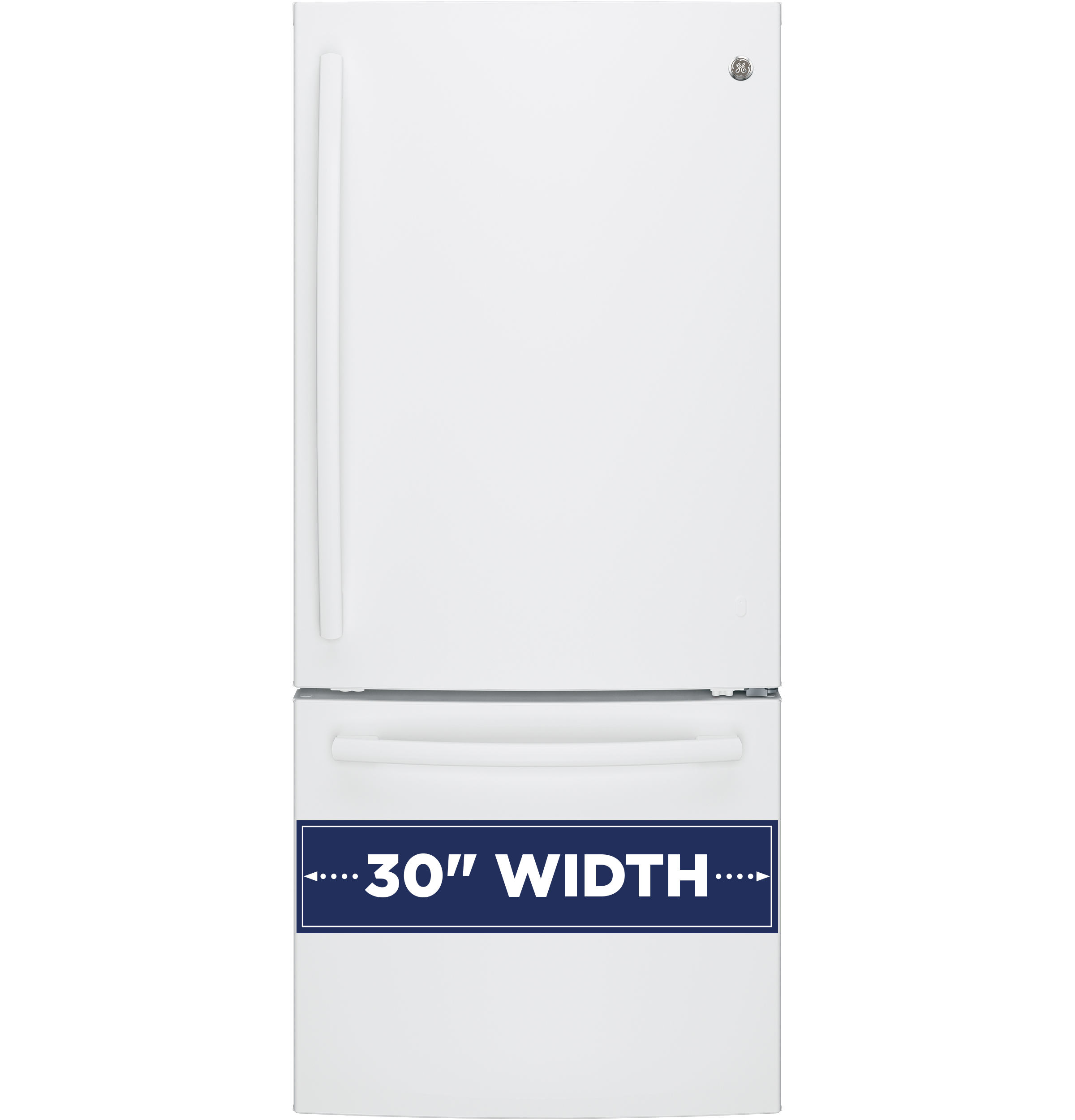 Model: GDE21EGKWW   GE GE® ENERGY STAR® 21.0 Cu. Ft. Bottom-Freezer Refrigerator