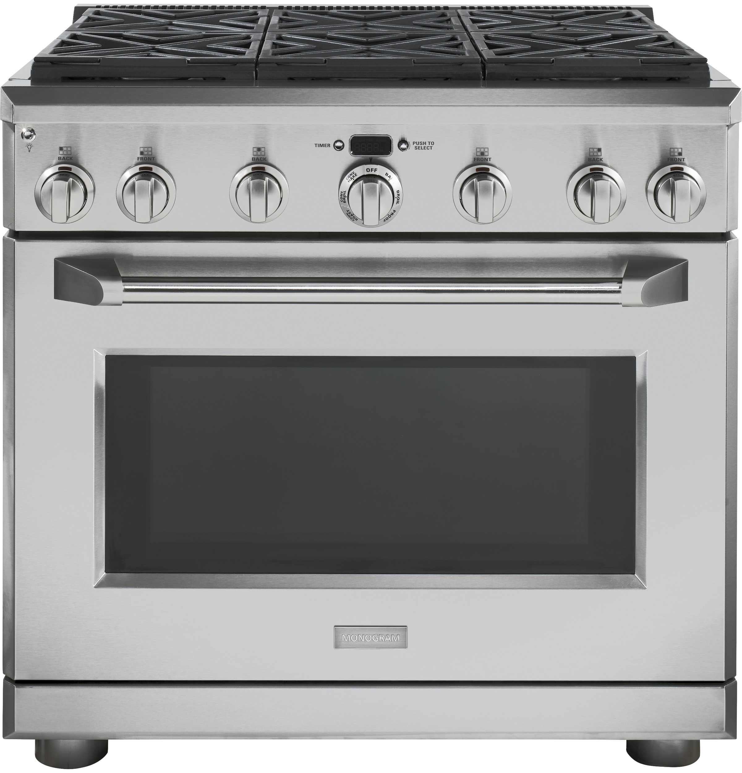 "Monogram Monogram 36"" Dual-Fuel Professional Range with 6 Burners (Natural Gas)"