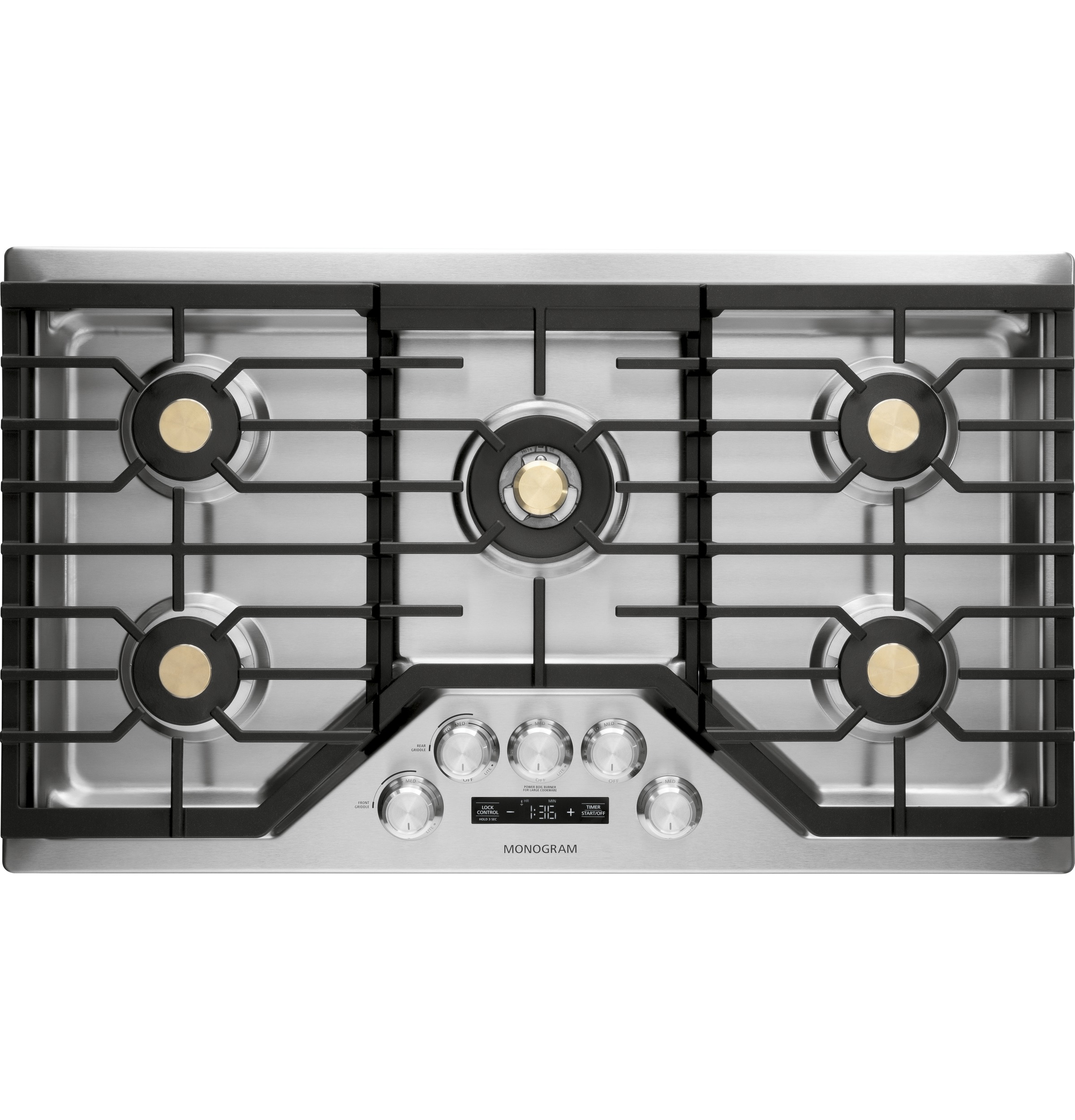 "Monogram Monogram 36"" Smart Deep-Recessed Gas Cooktop (Natural Gas)"