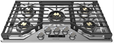"Model: ZGU36ESLSS | Monogram Monogram 36"" Smart Deep-Recessed Gas Cooktop (Natural Gas)"