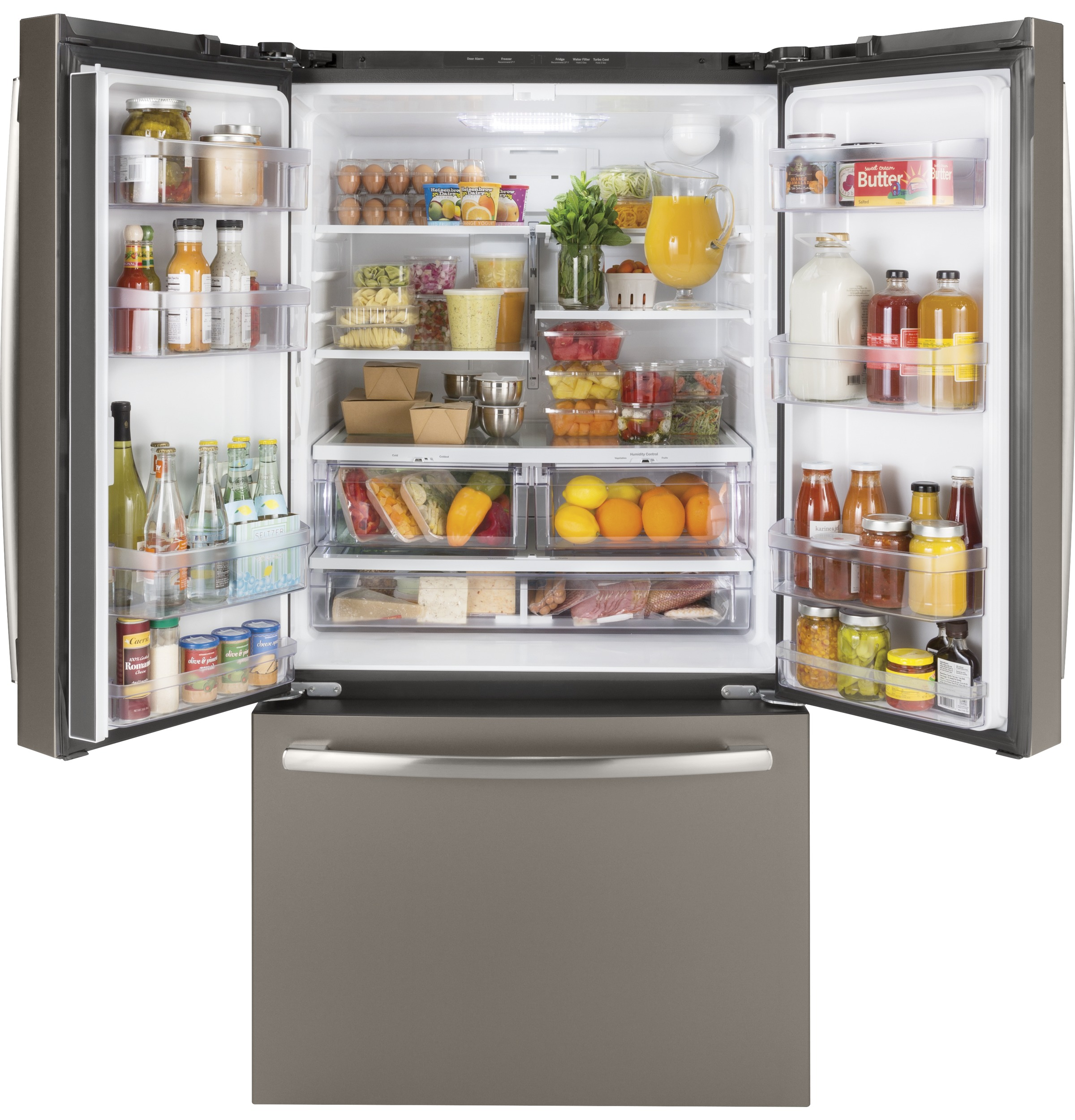 Model: GNE27JMMES | GE GE® ENERGY STAR® 27.0 Cu. Ft. French-Door Refrigerator