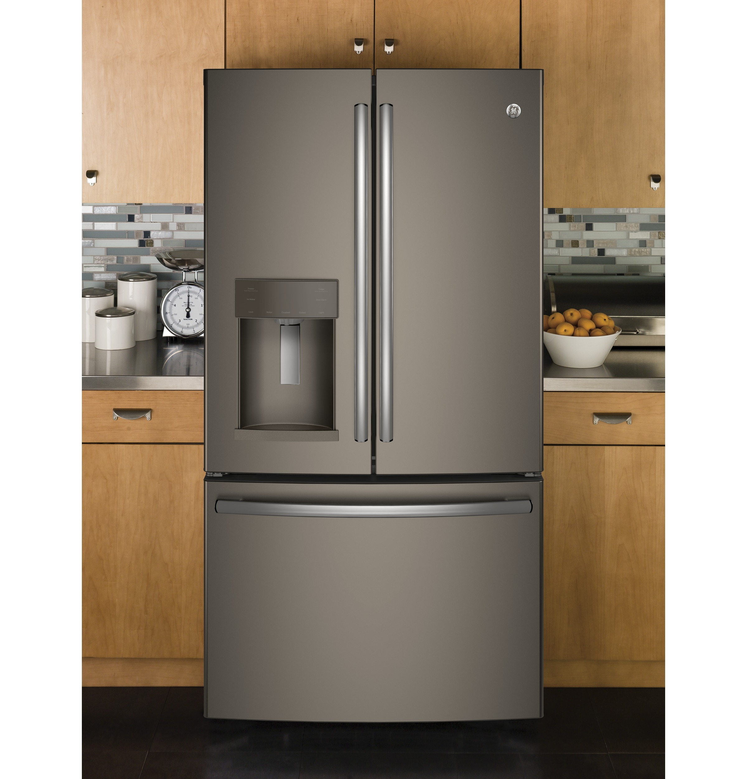 Model: GYE22HMKES | GE GE® ENERGY STAR® 22.2 Cu. Ft. Counter-Depth French-Door Refrigerator