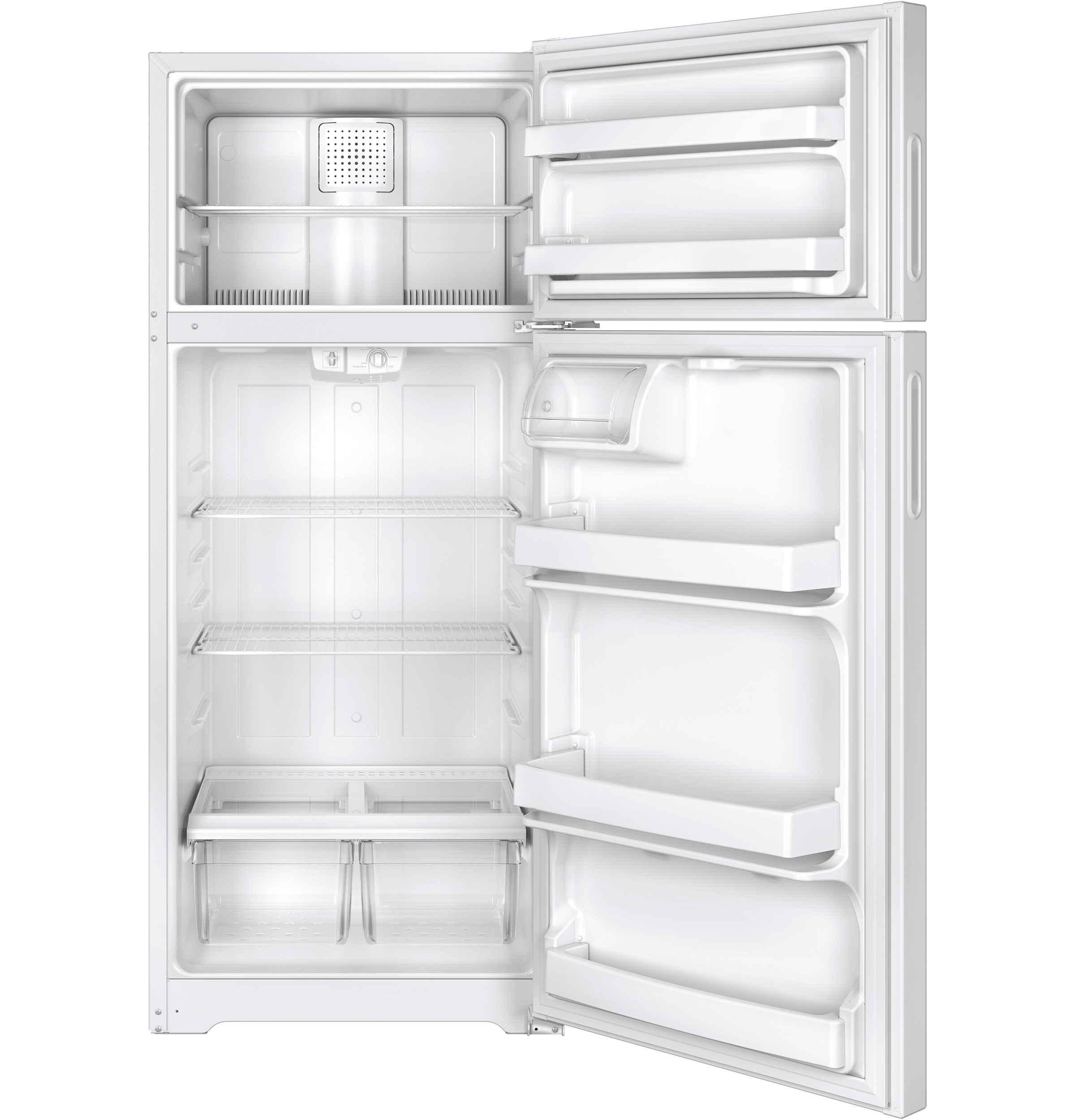 Model: HPS18BTHWW | Hotpoint® 17.5 Cu. Ft. Top-Freezer Refrigerator