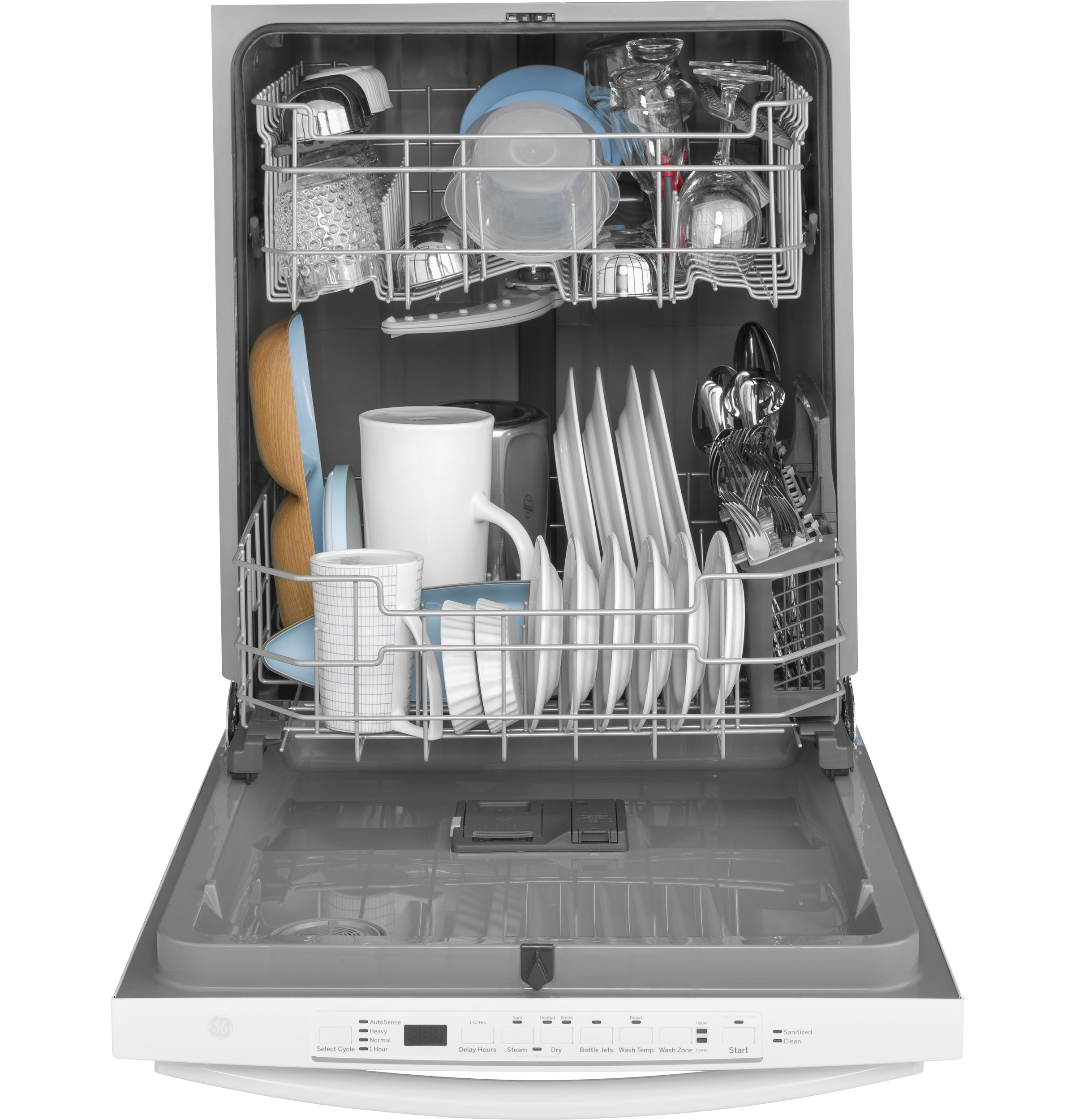 Model: GDT605PGMWW | GE GE® Top Control with Plastic Interior Dishwasher with Sanitize Cycle & Dry Boost