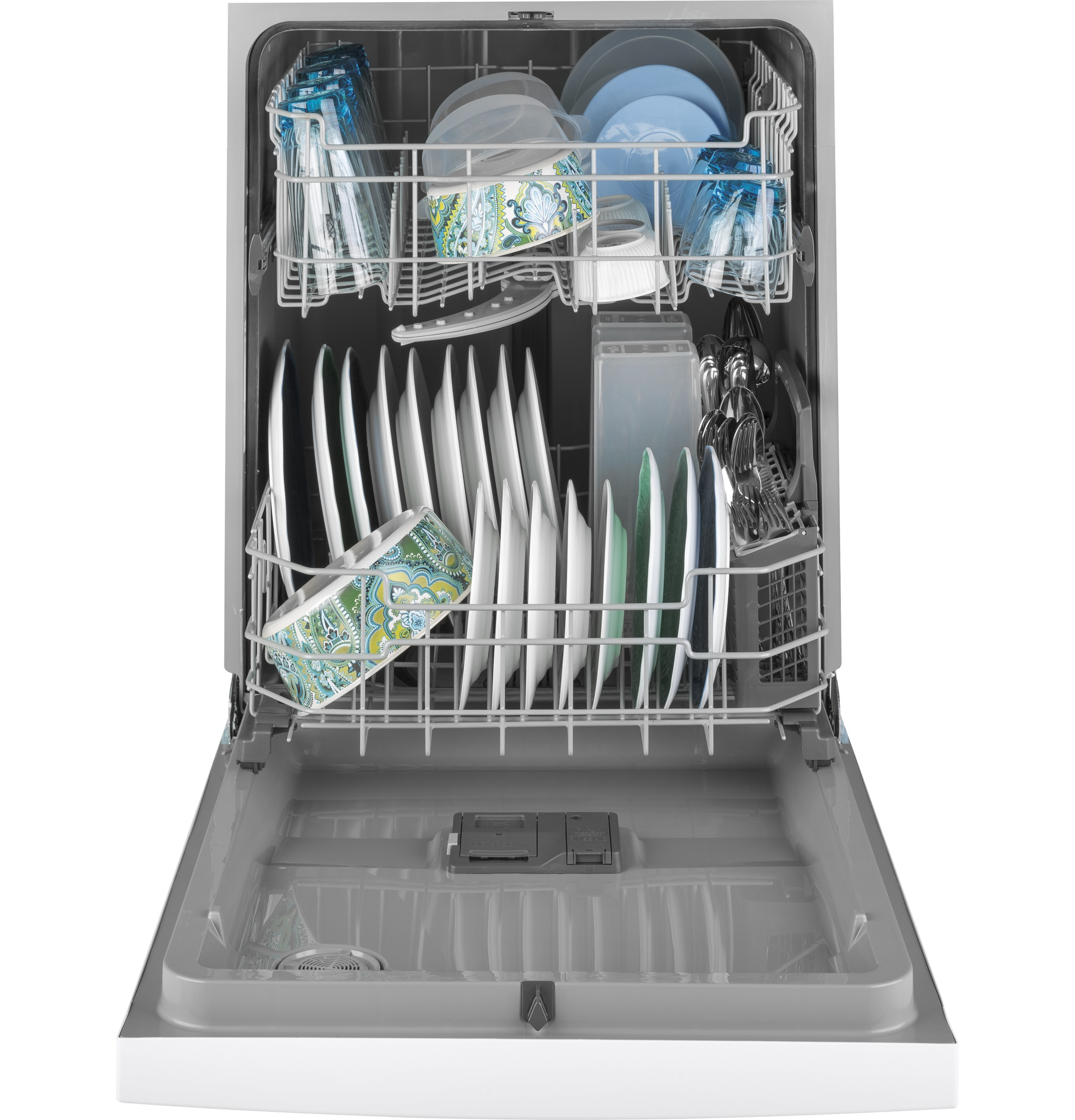 Model: GDF511PGMWW | GE® Dishwasher with Front Controls and Power Cord