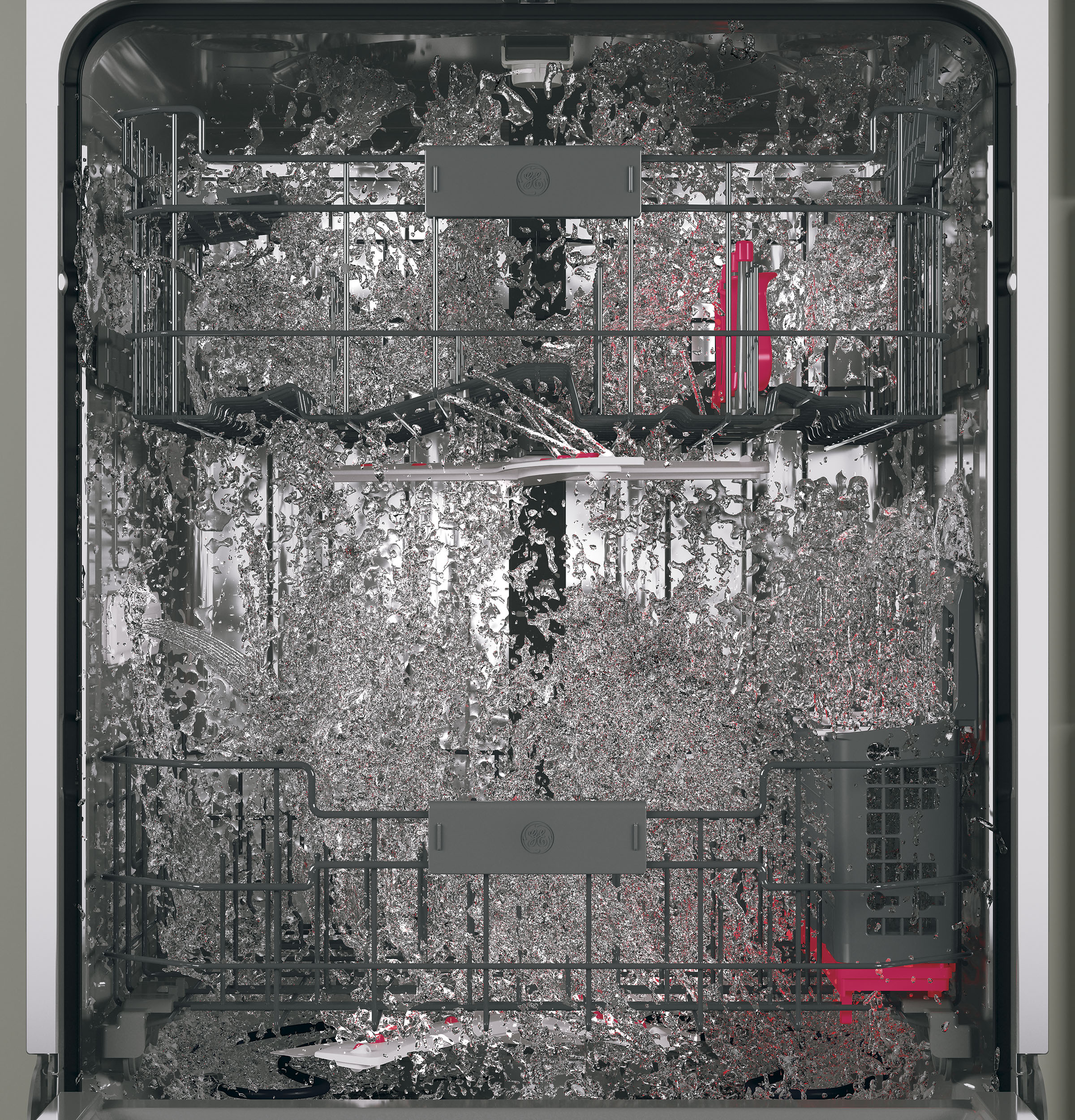 Model: PDT855SSJSS   GE Profile™ Stainless Steel Interior Dishwasher with Hidden Controls
