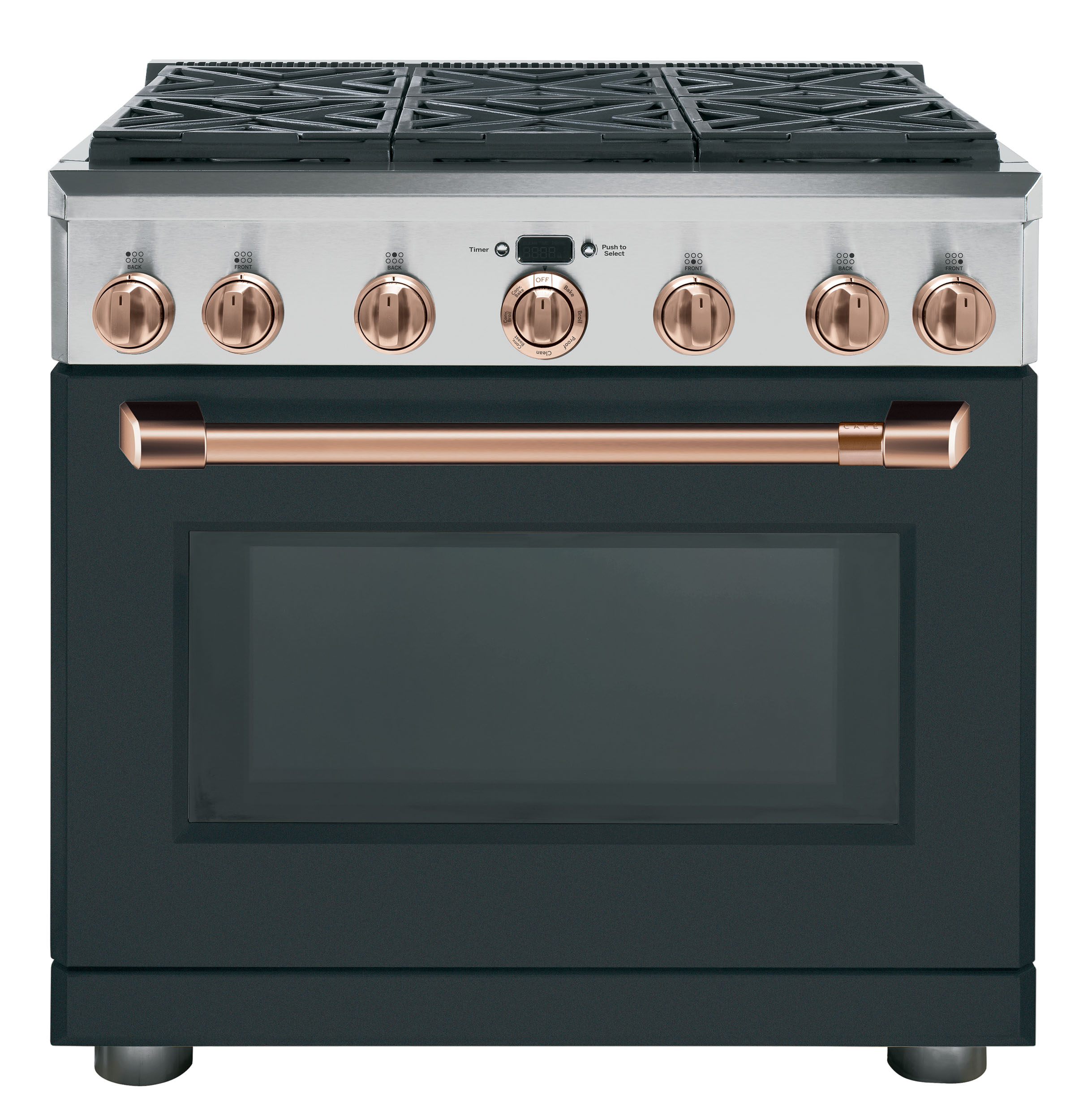 "Model: C2Y366P3MD1 | Cafe Café™ 36"" Dual-Fuel Professional Range with 6 Burners (Natural Gas)"