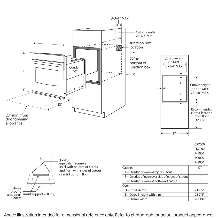 Model: JK1000DFBB | GE® 27