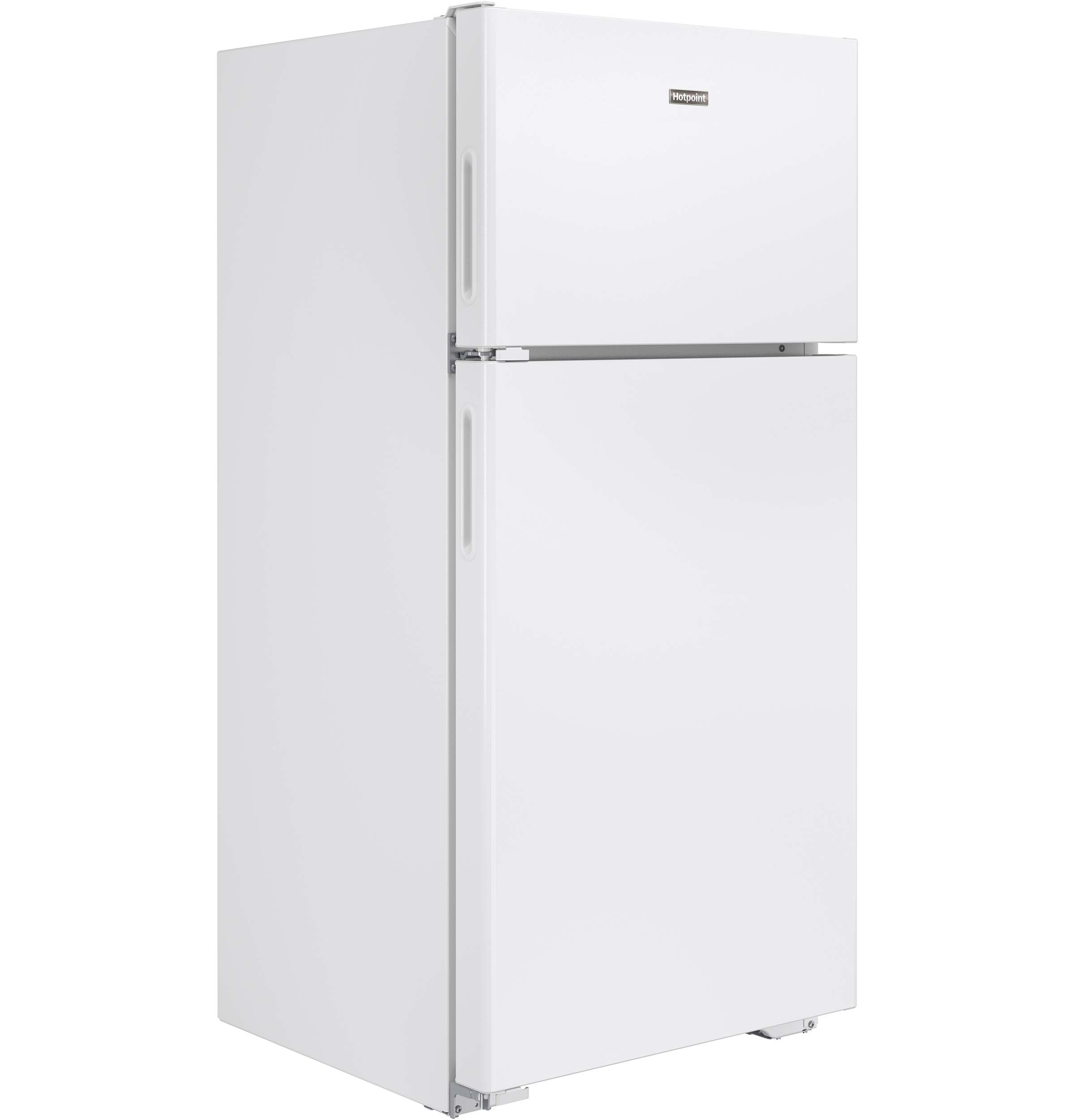 Model: HPS15BTHRWW | Hotpoint® 14.6 Cu. Ft. Recessed Handle Top-Freezer Refrigerator