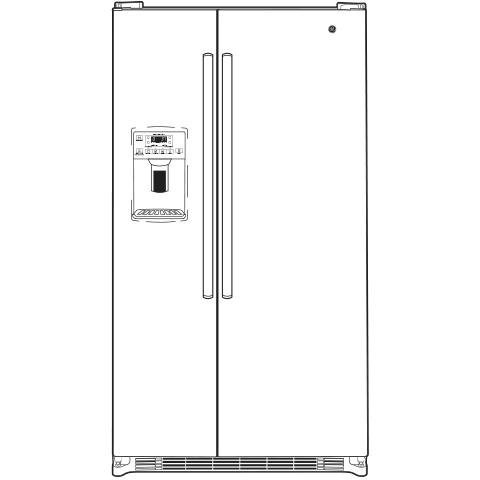 Model: GSS23GGKWW | GE GE® 23.2 Cu. Ft. Side-By-Side Refrigerator